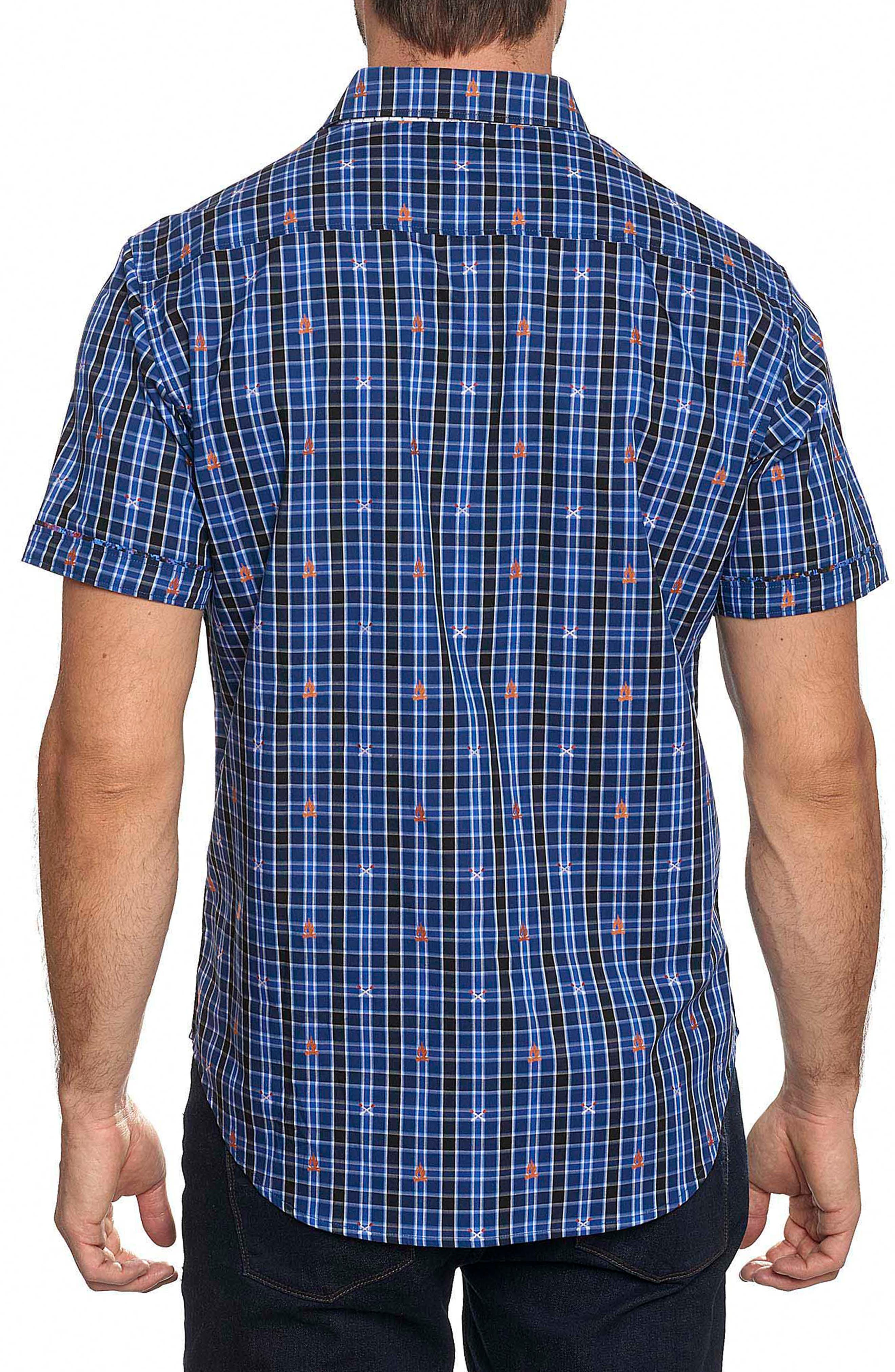 Campfire Embroidered Check Sport Shirt,                             Alternate thumbnail 2, color,                             400