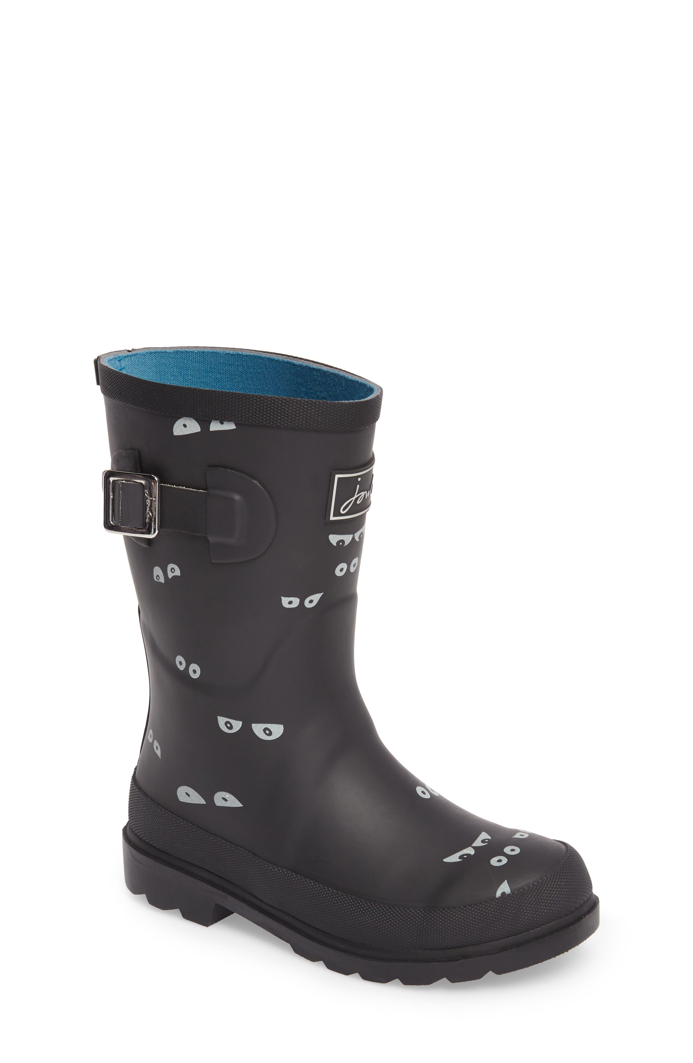 Printed Waterproof Rain Boot,                             Main thumbnail 1, color,                             001
