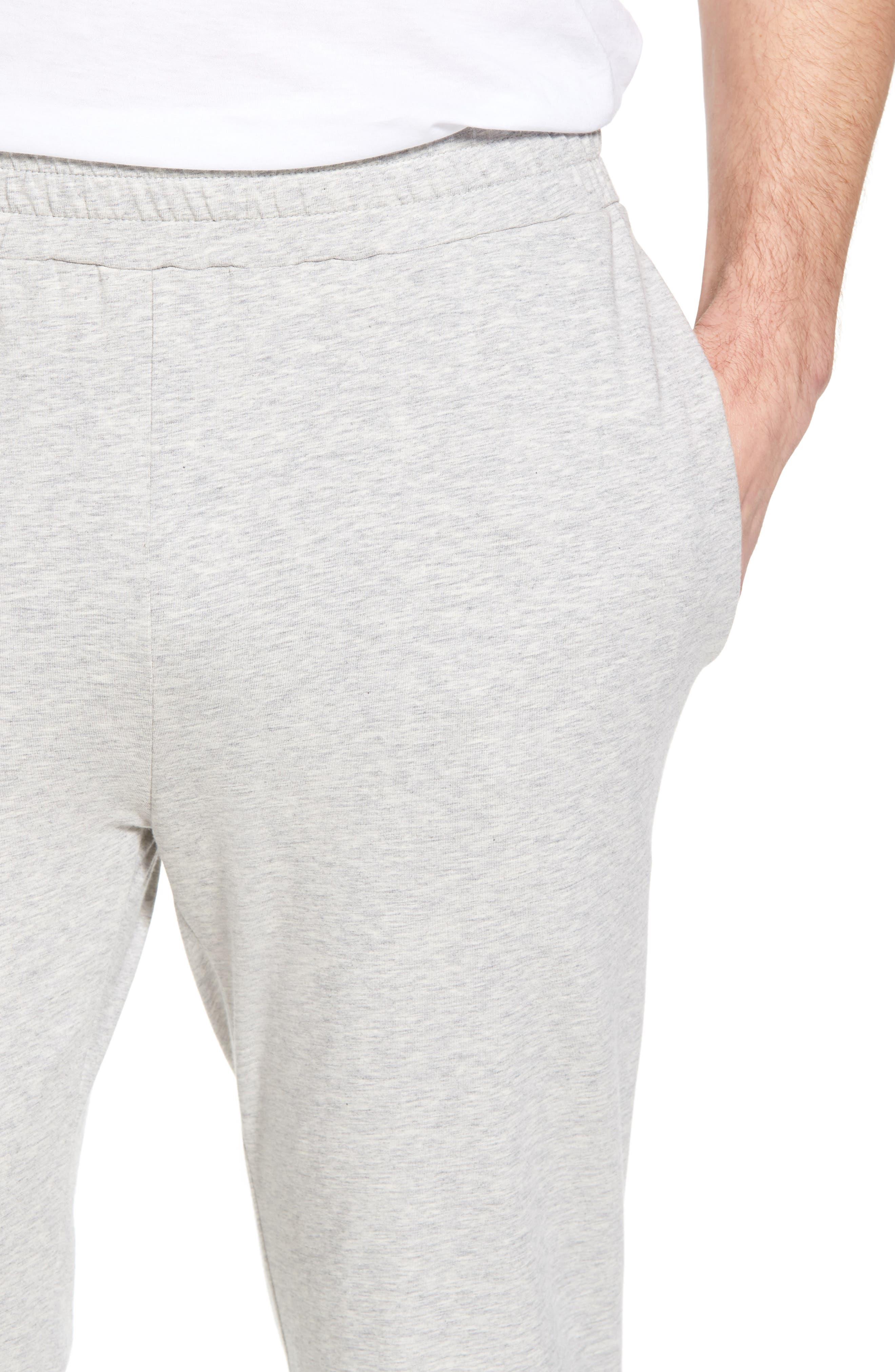 Classic Liquid Cotton Stretch Pants,                             Alternate thumbnail 4, color,                             HEATHER GREY