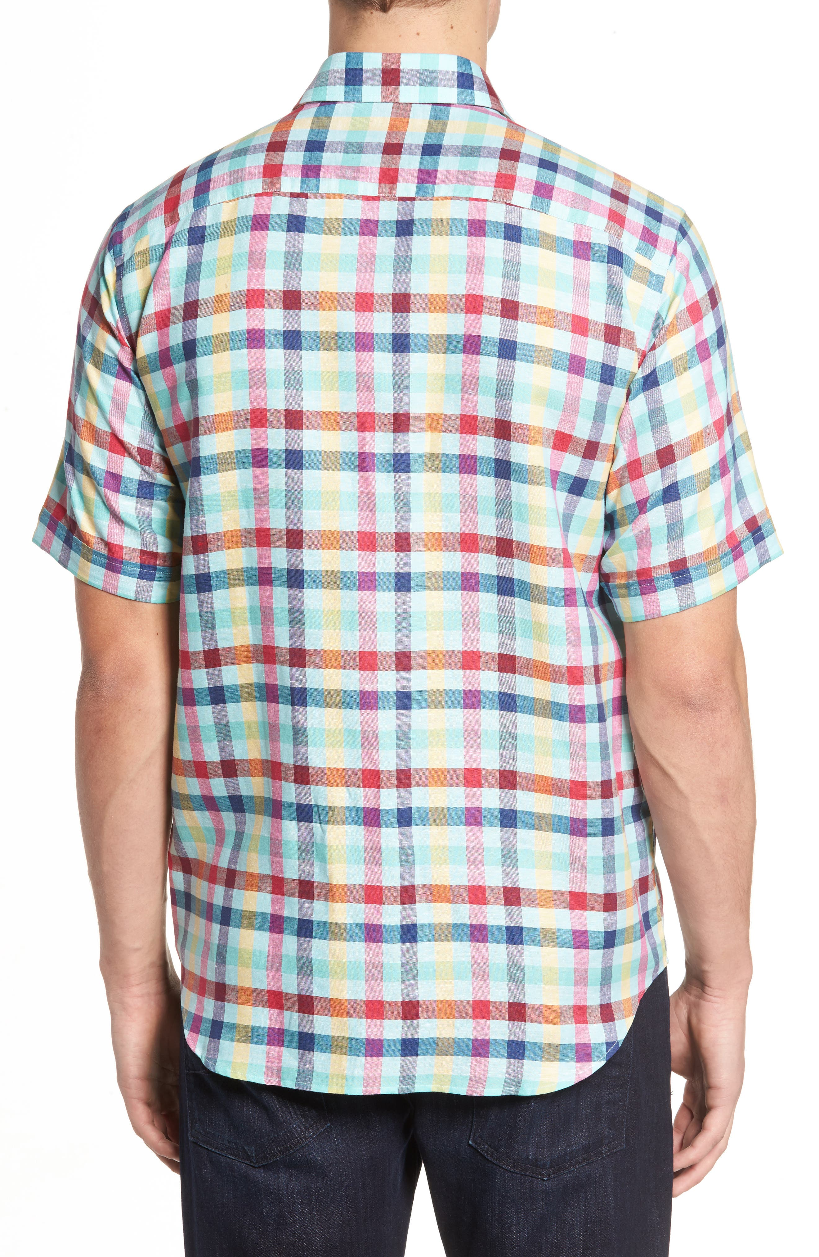Classic Fit Check Sport Shirt,                             Alternate thumbnail 2, color,