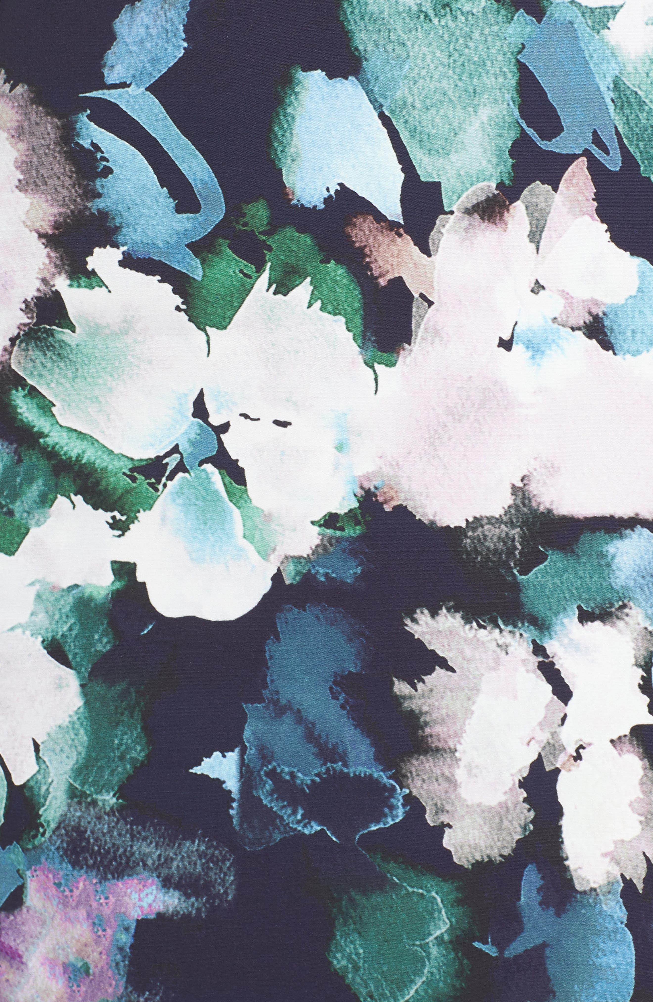 Eleanor Sheath Dress,                             Alternate thumbnail 6, color,                             UTILITY MULTI