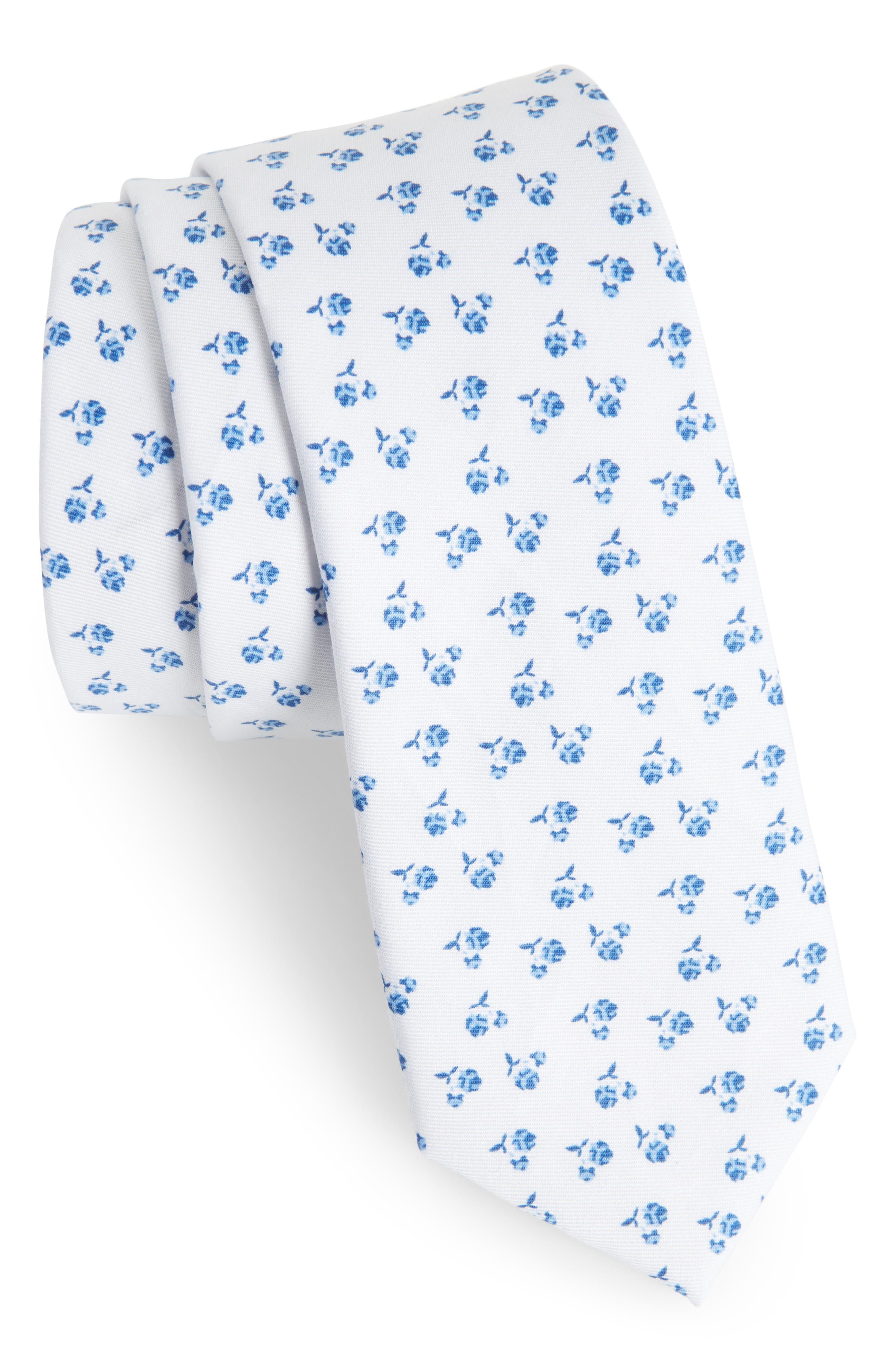 Jay Floral Tie,                         Main,                         color, 100