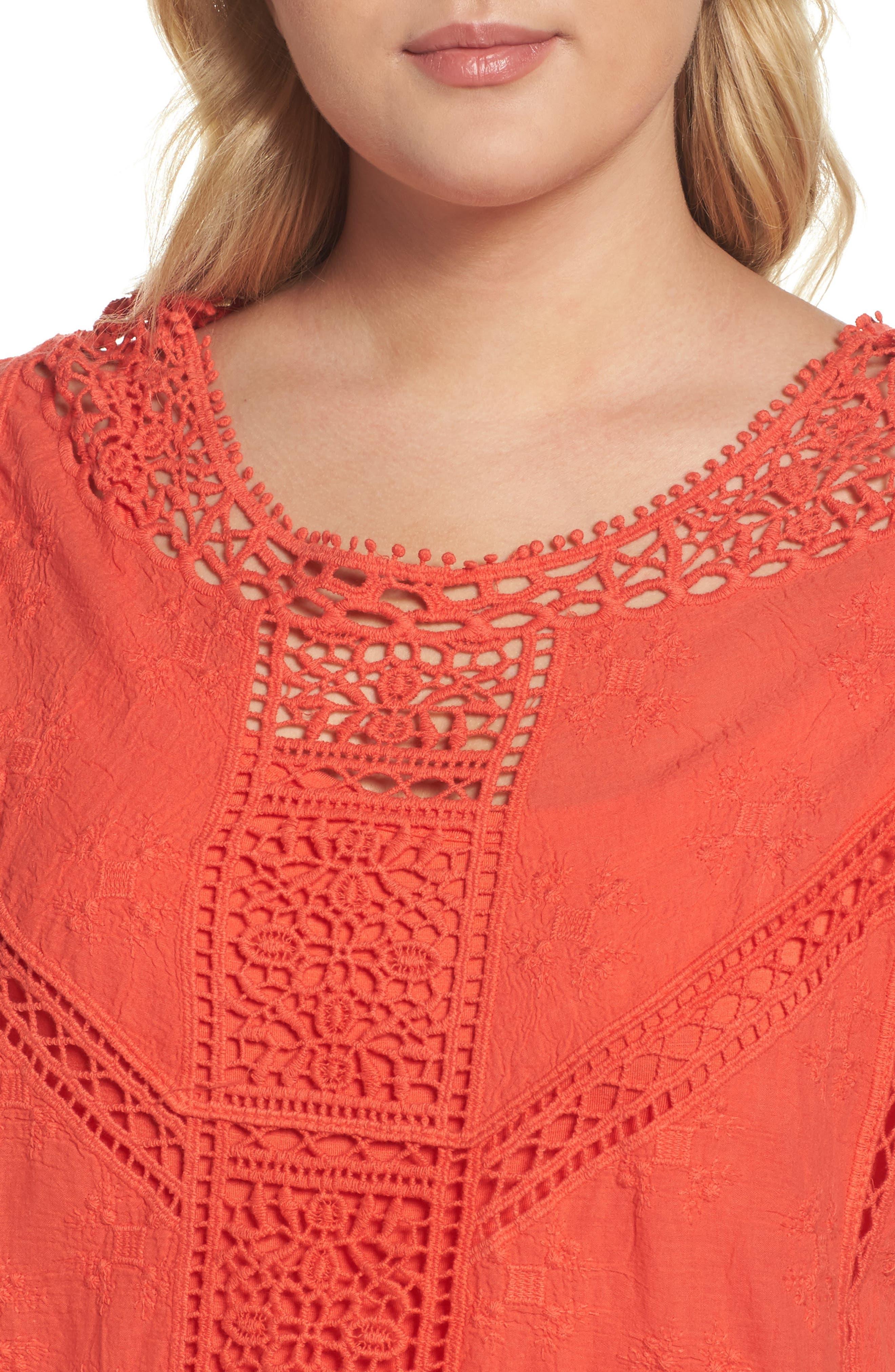 Flutter Sleeve Crochet Top,                             Alternate thumbnail 11, color,