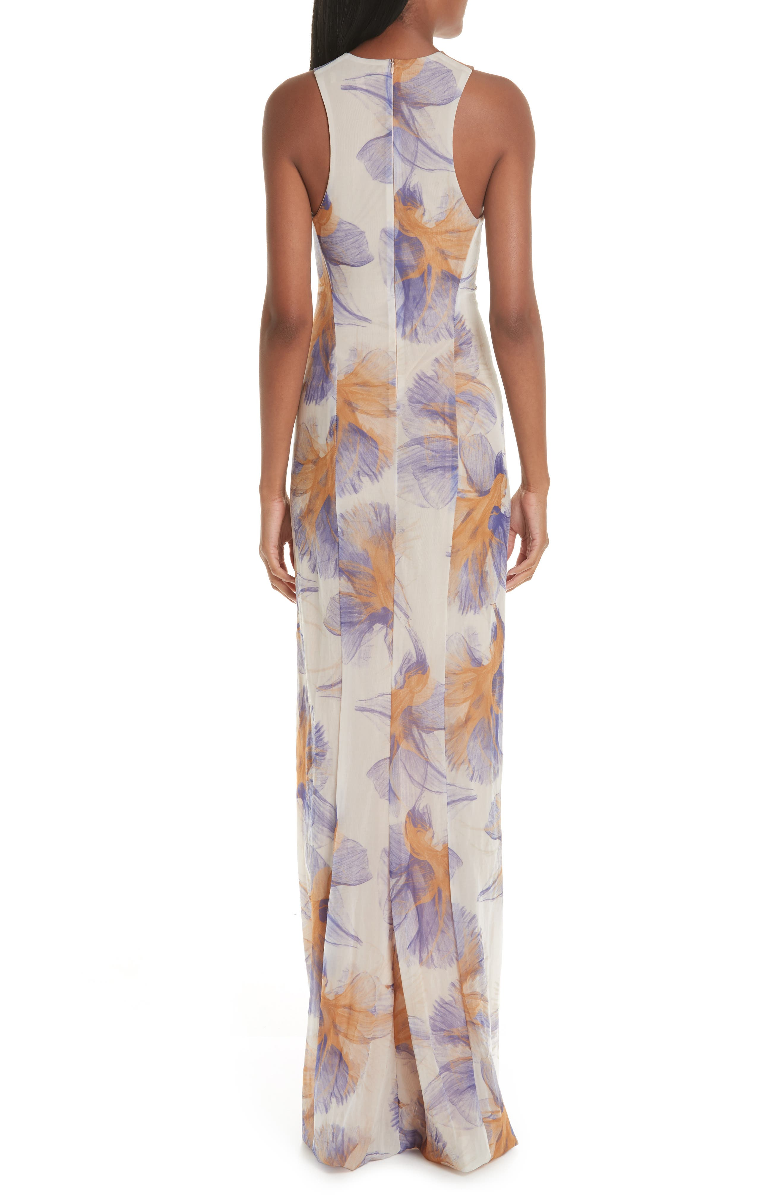 GALVAN,                             Abstract Floral Print Gown,                             Alternate thumbnail 2, color,                             ABSTRACT FLORAL