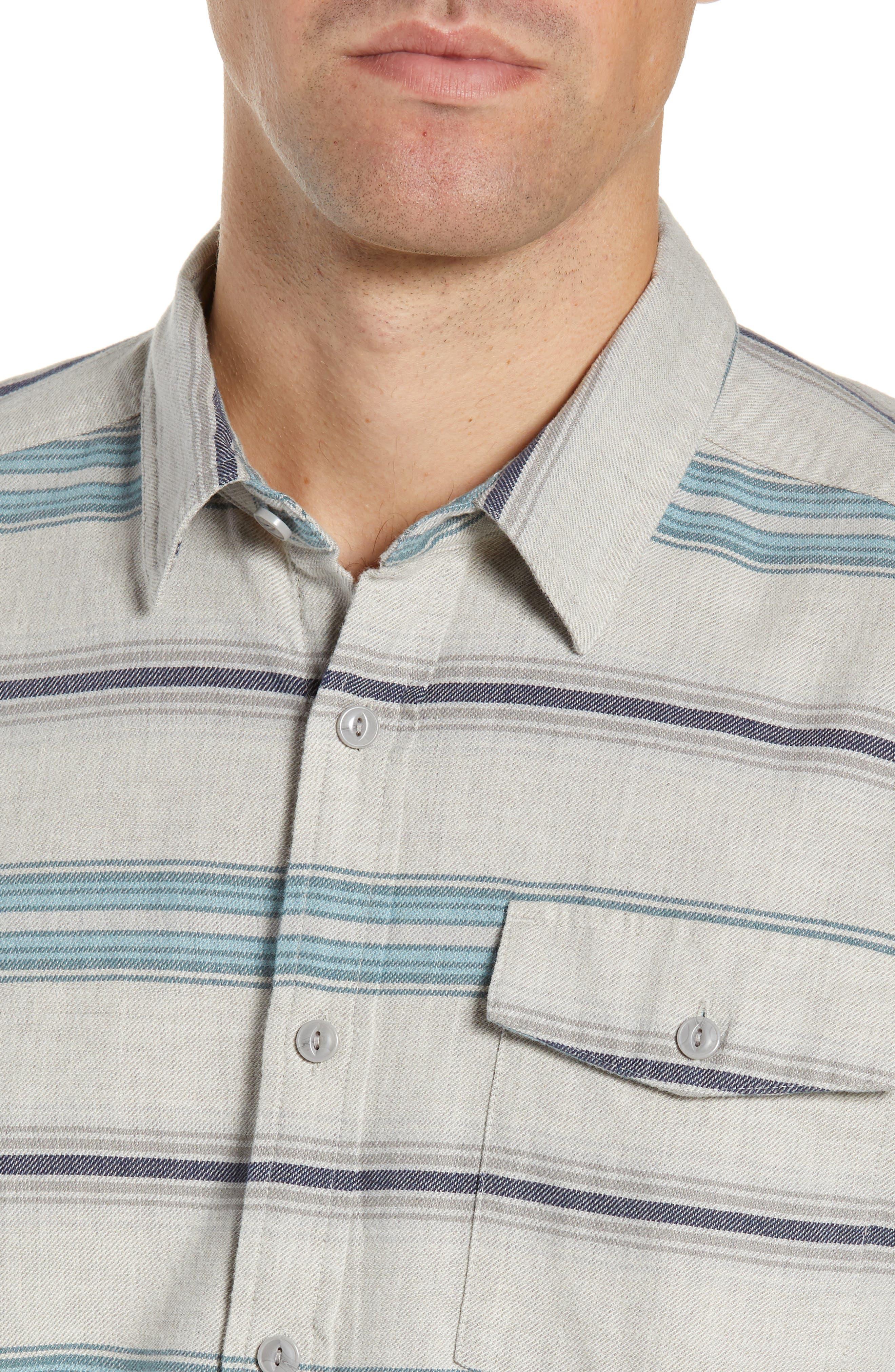 PATAGONIA,                             Regular Fit Organic Cotton Flannel Shirt,                             Alternate thumbnail 2, color,                             TARKINE STRIPE DRIFTER GREY