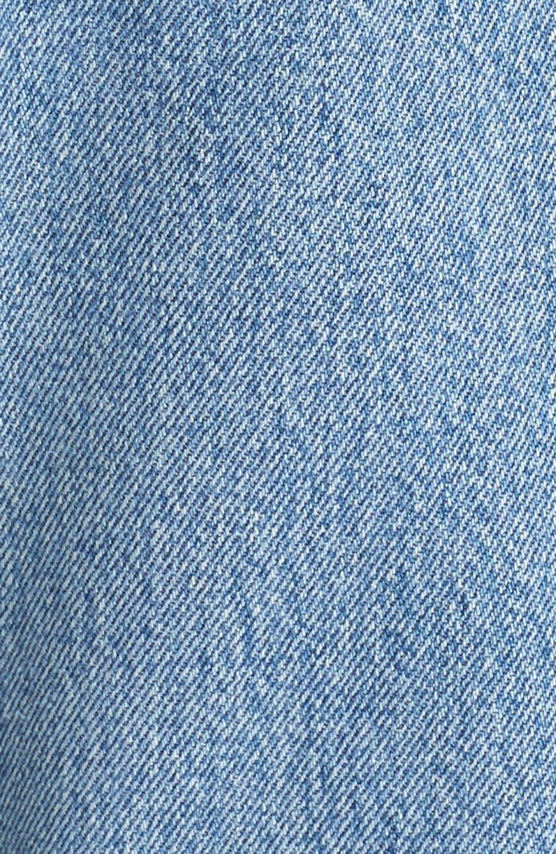 Reconstructed High Waist Ankle Crop Jeans,                             Alternate thumbnail 6, color,                             NO DESTRUCTION