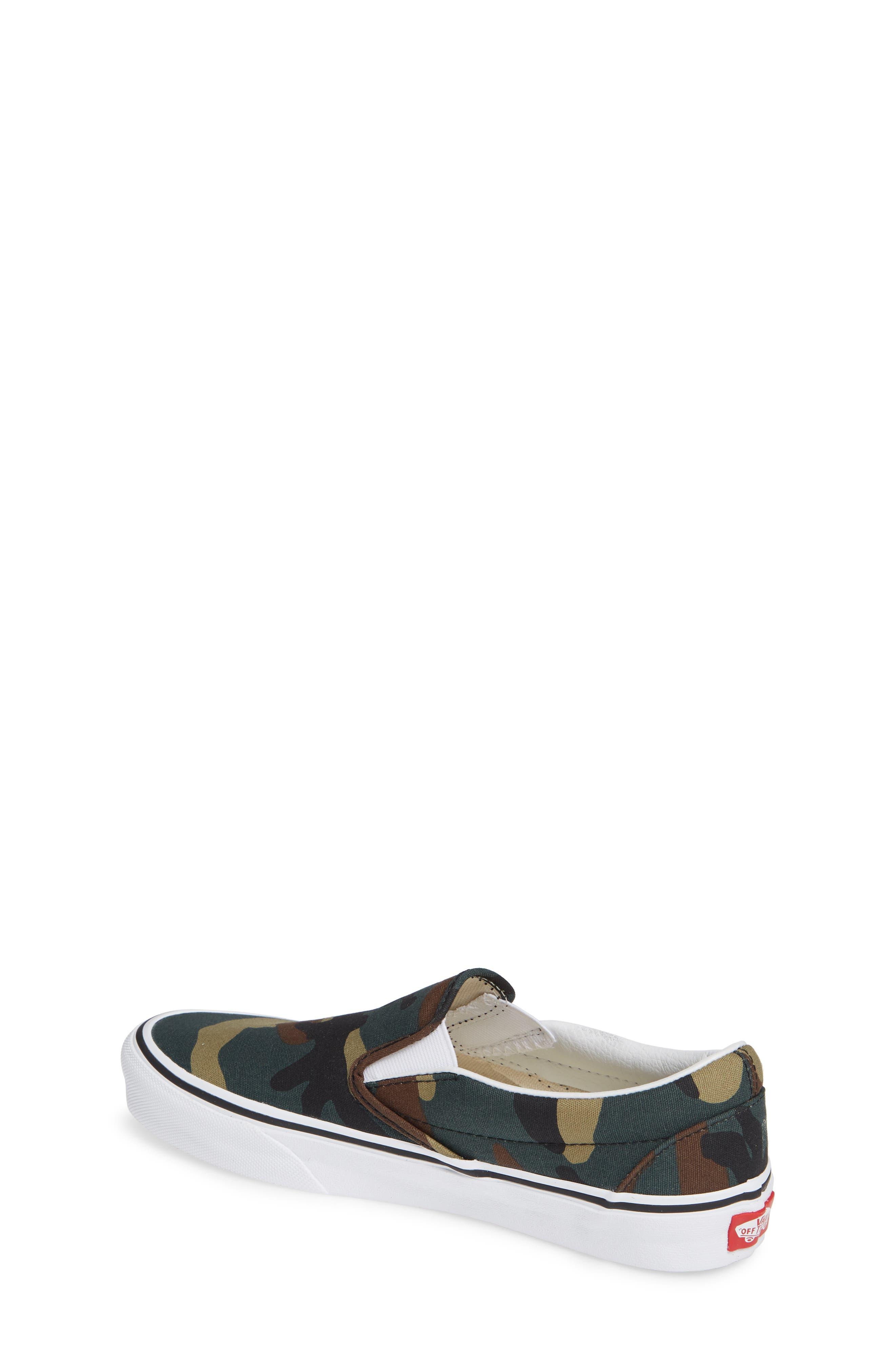 Classic Slip-On Sneaker,                             Alternate thumbnail 2, color,                             BLACK / WOODLAND