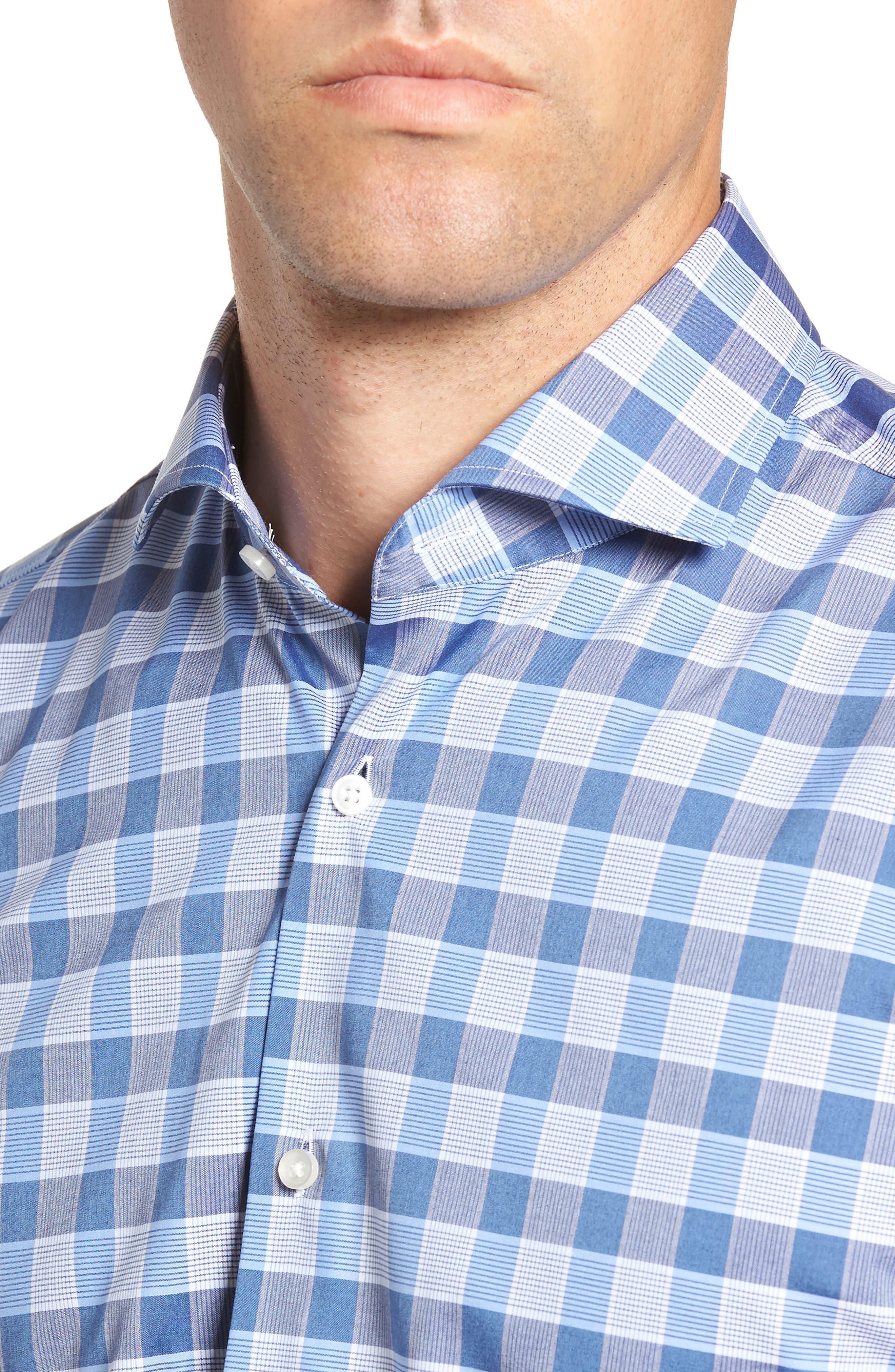 Jason Slim Fit Plaid Dress Shirt,                             Alternate thumbnail 2, color,                             BLUE