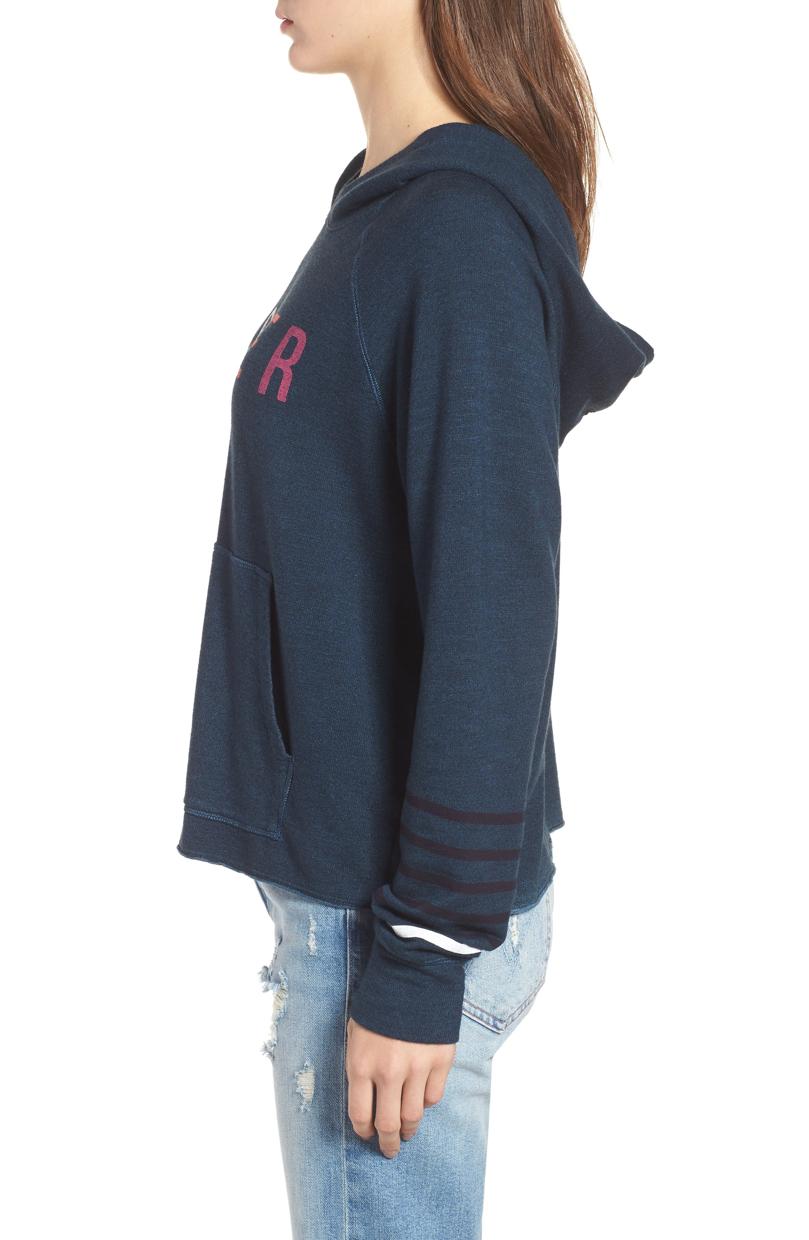 SUNDRY,                             Lover Active Crop Hoodie,                             Alternate thumbnail 3, color,                             405