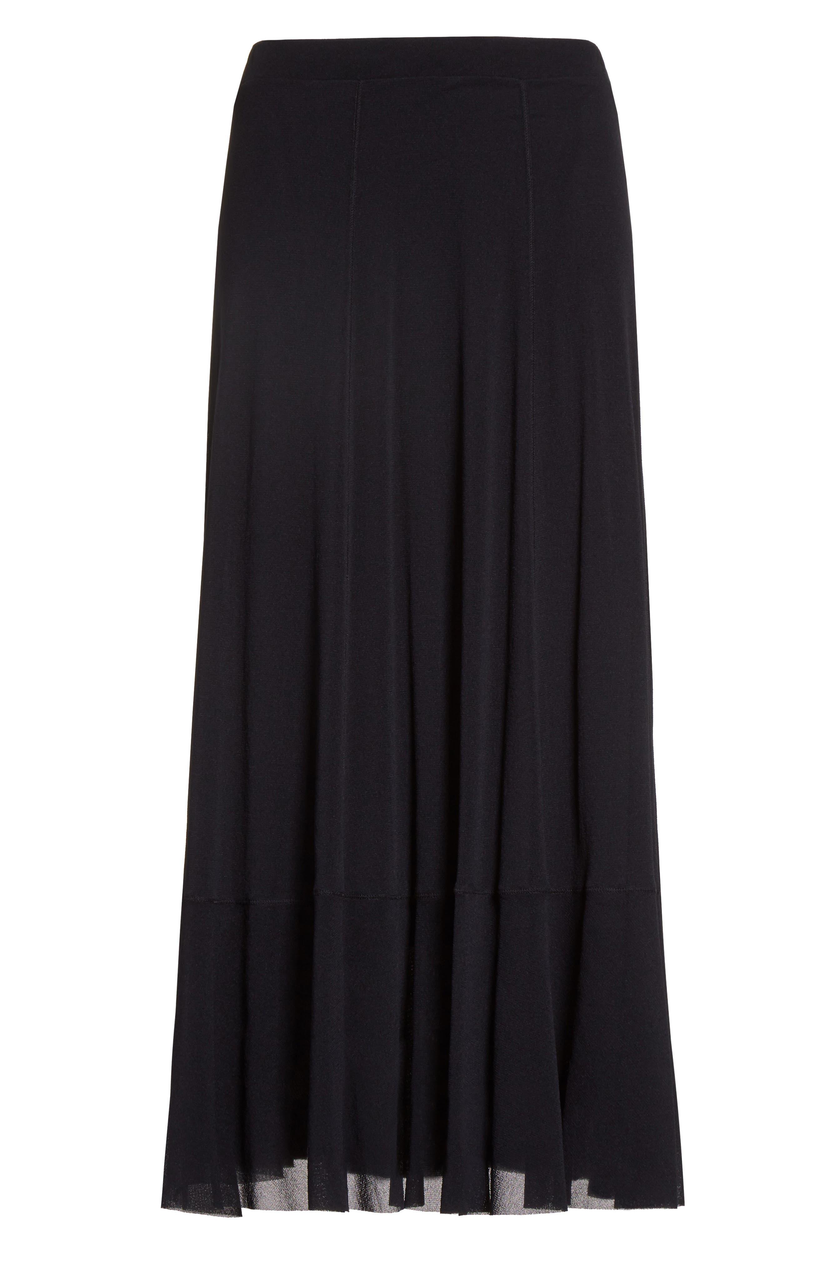 Tulle Midi Skirt,                             Alternate thumbnail 6, color,                             001