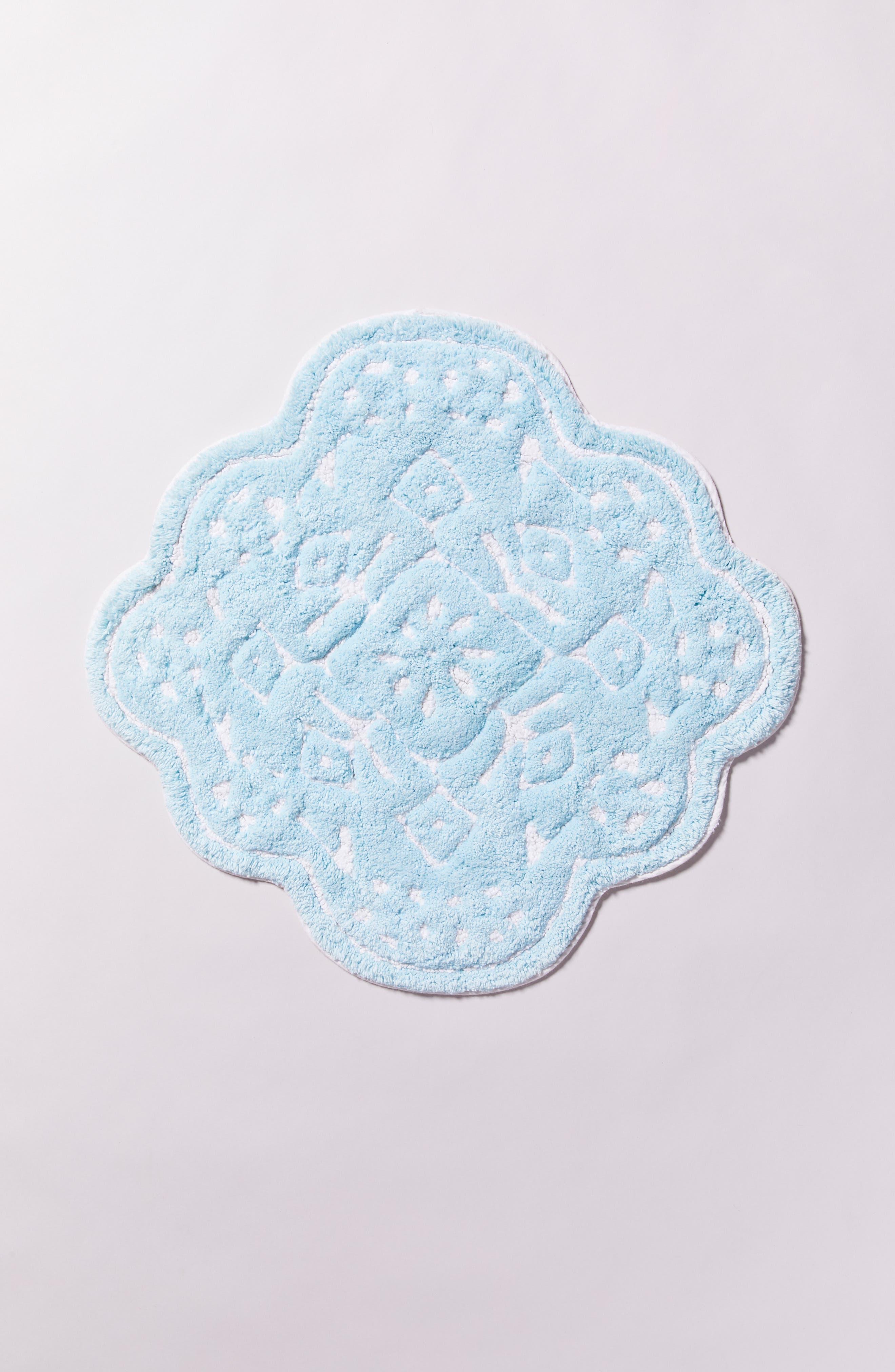 Mosaic Tile Bath Mat,                             Alternate thumbnail 4, color,                             MINT