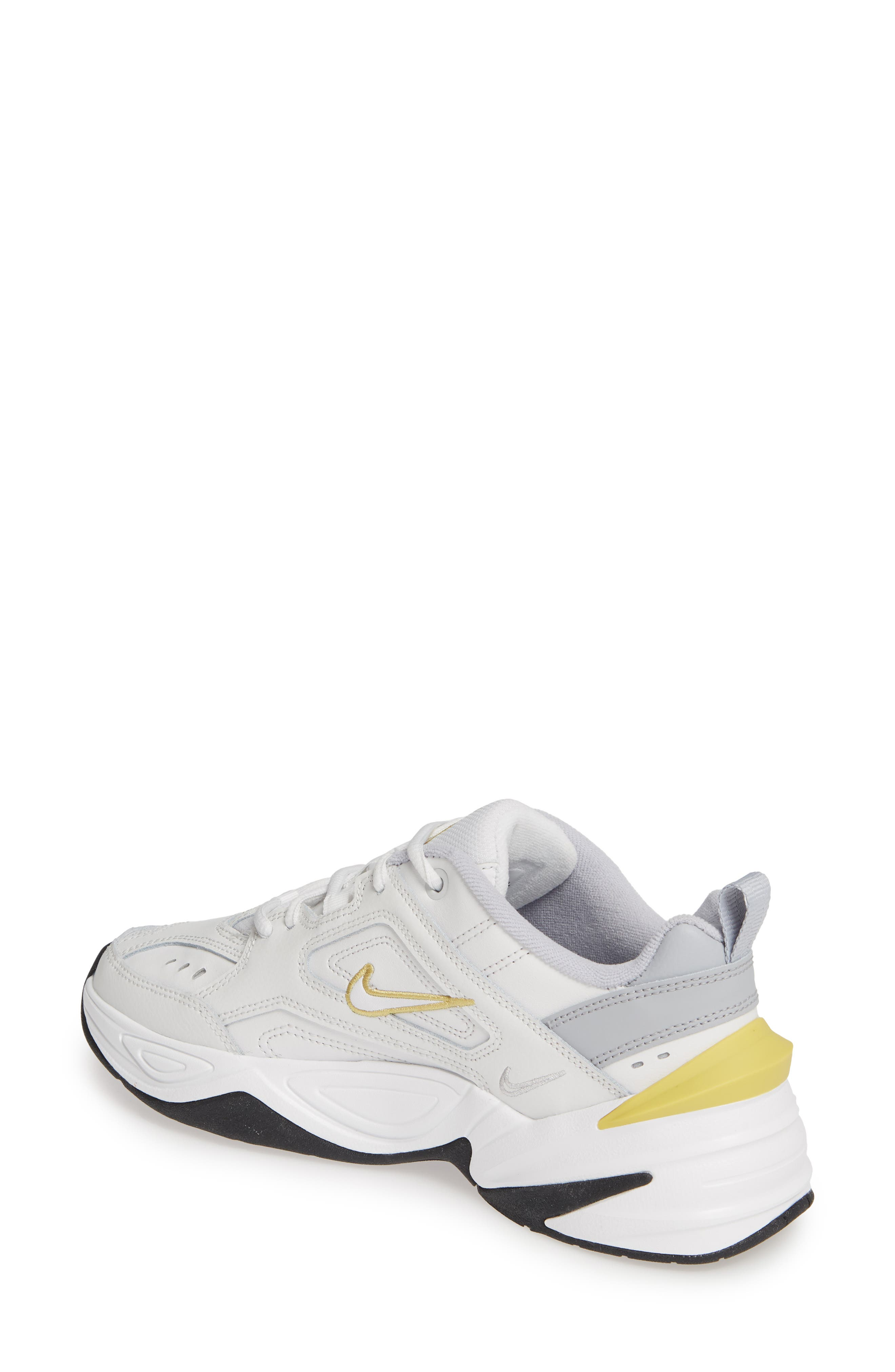 NIKE,                             M2K Tekno Sneaker,                             Alternate thumbnail 2, color,                             PLATINUM TINT/ CELERY/ GREY