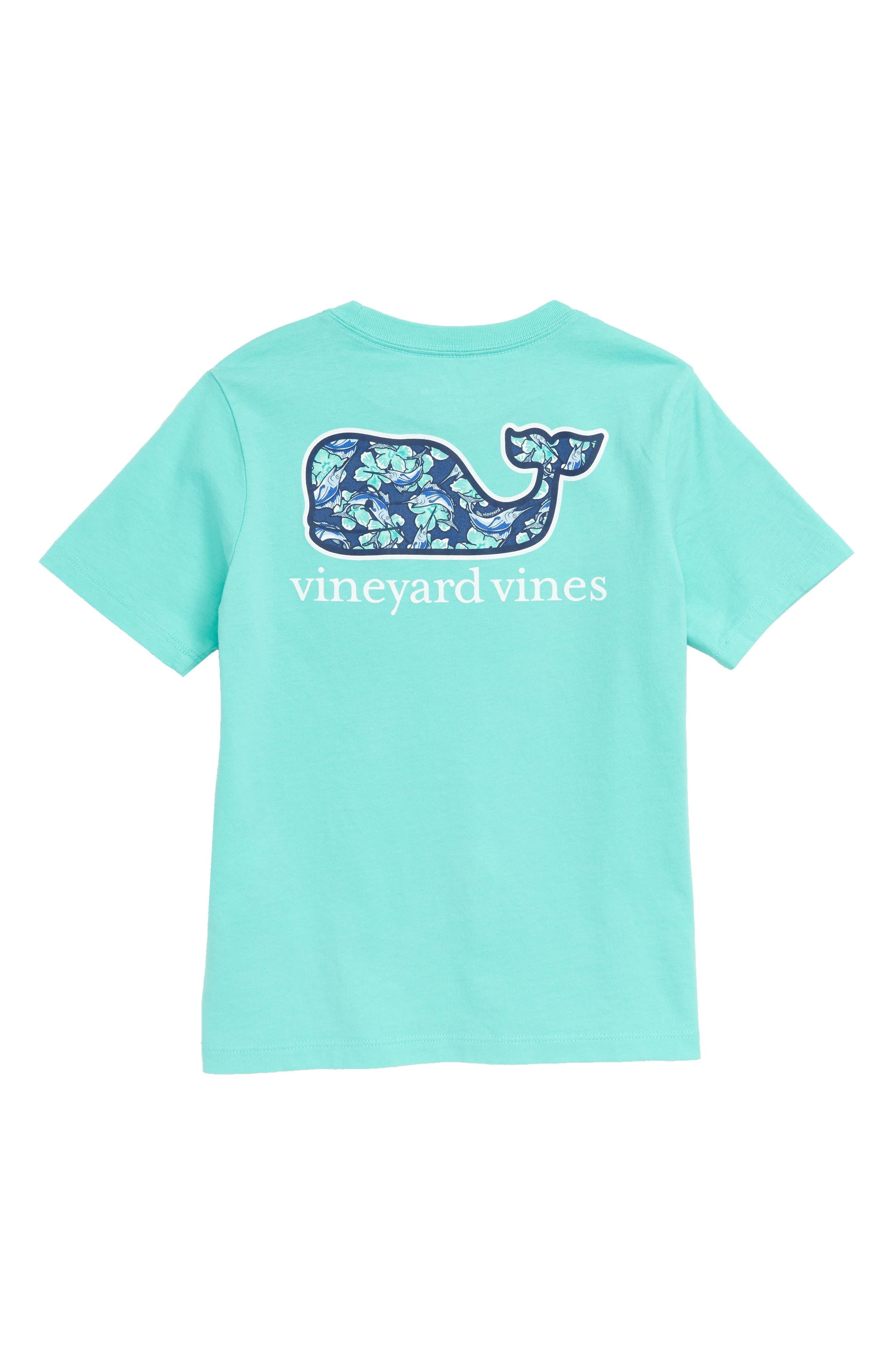 Marlin Flowers Whale Pocket T-Shirt,                             Alternate thumbnail 2, color,                             CAPRI BLUE