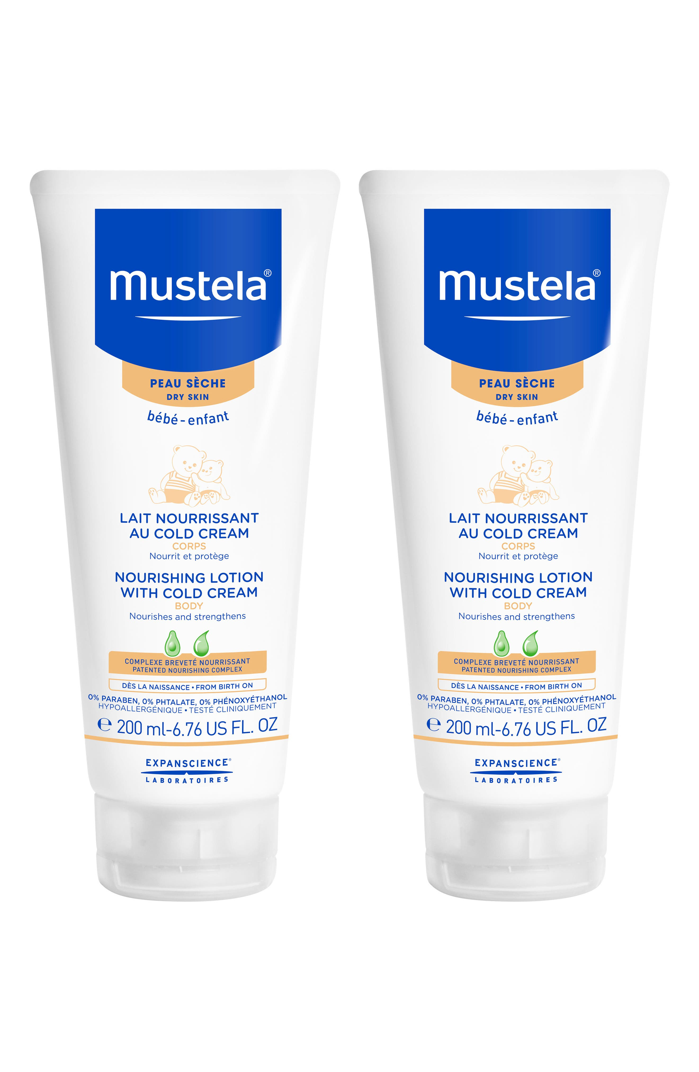 Mustela 2Pack Nourishing Lotion With Cold Cream