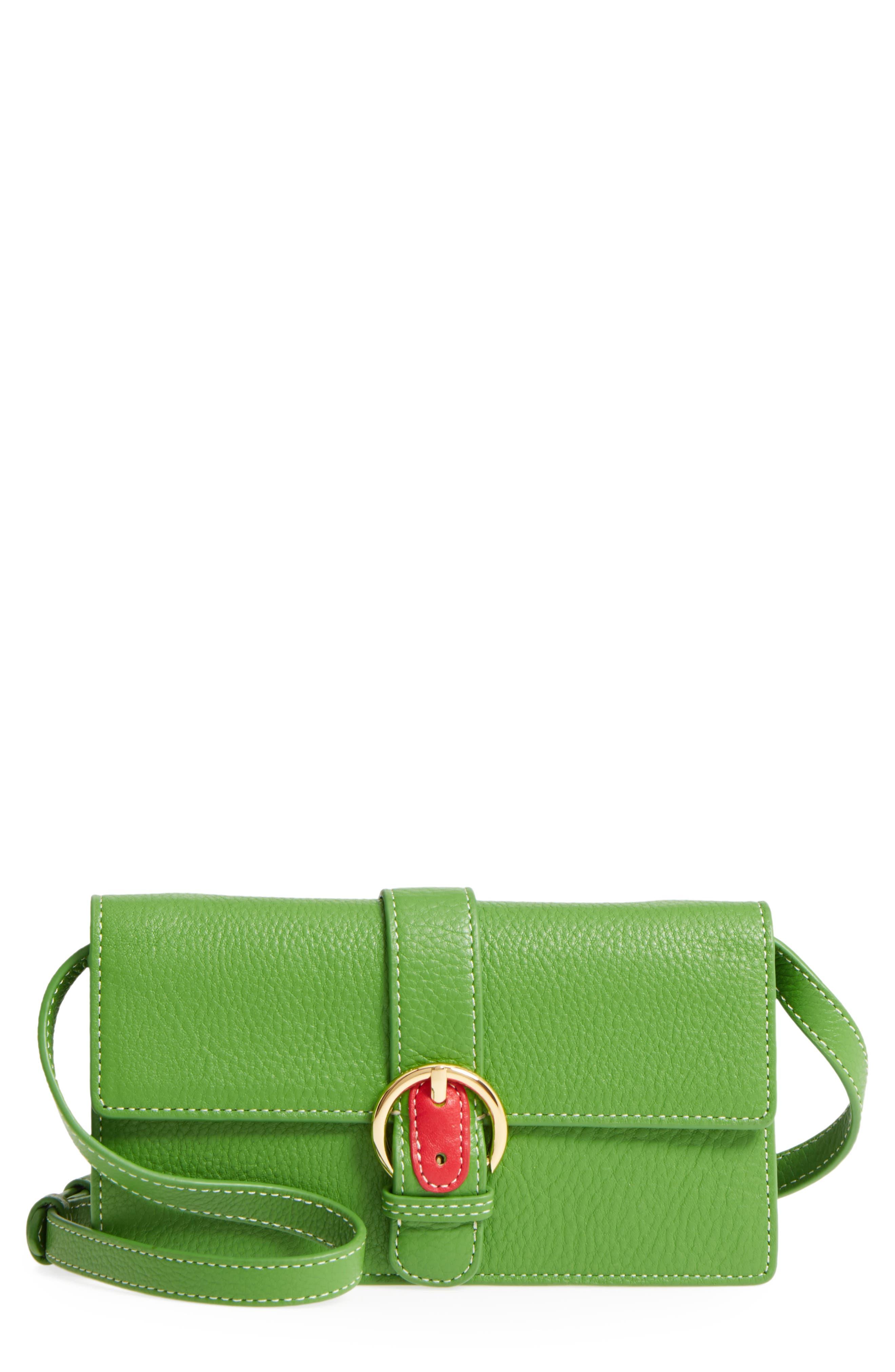 Calfskin Leather Crossbody Wallet,                             Main thumbnail 3, color,