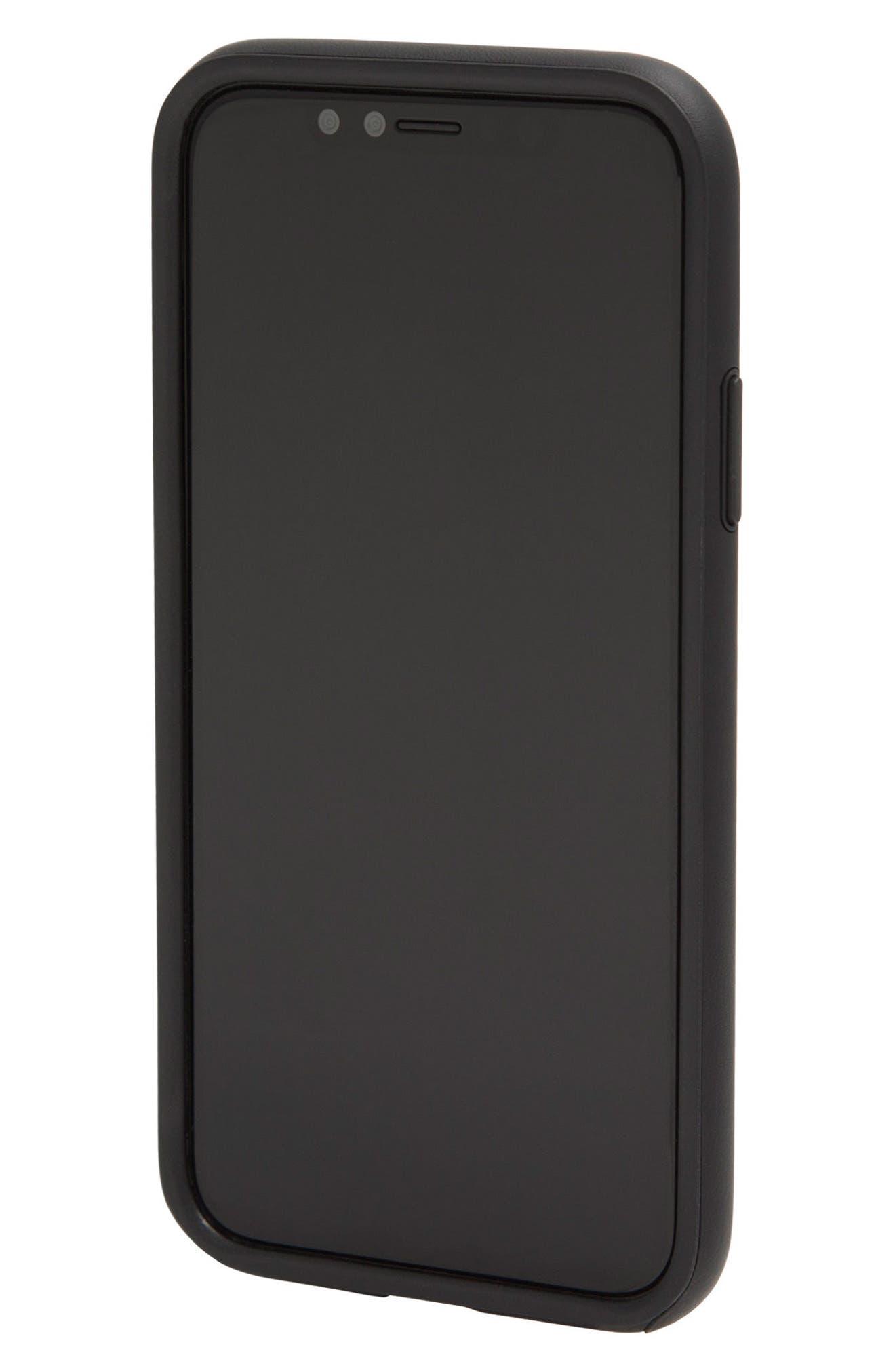 Faux Leather iPhone X Case,                             Main thumbnail 1, color,                             001