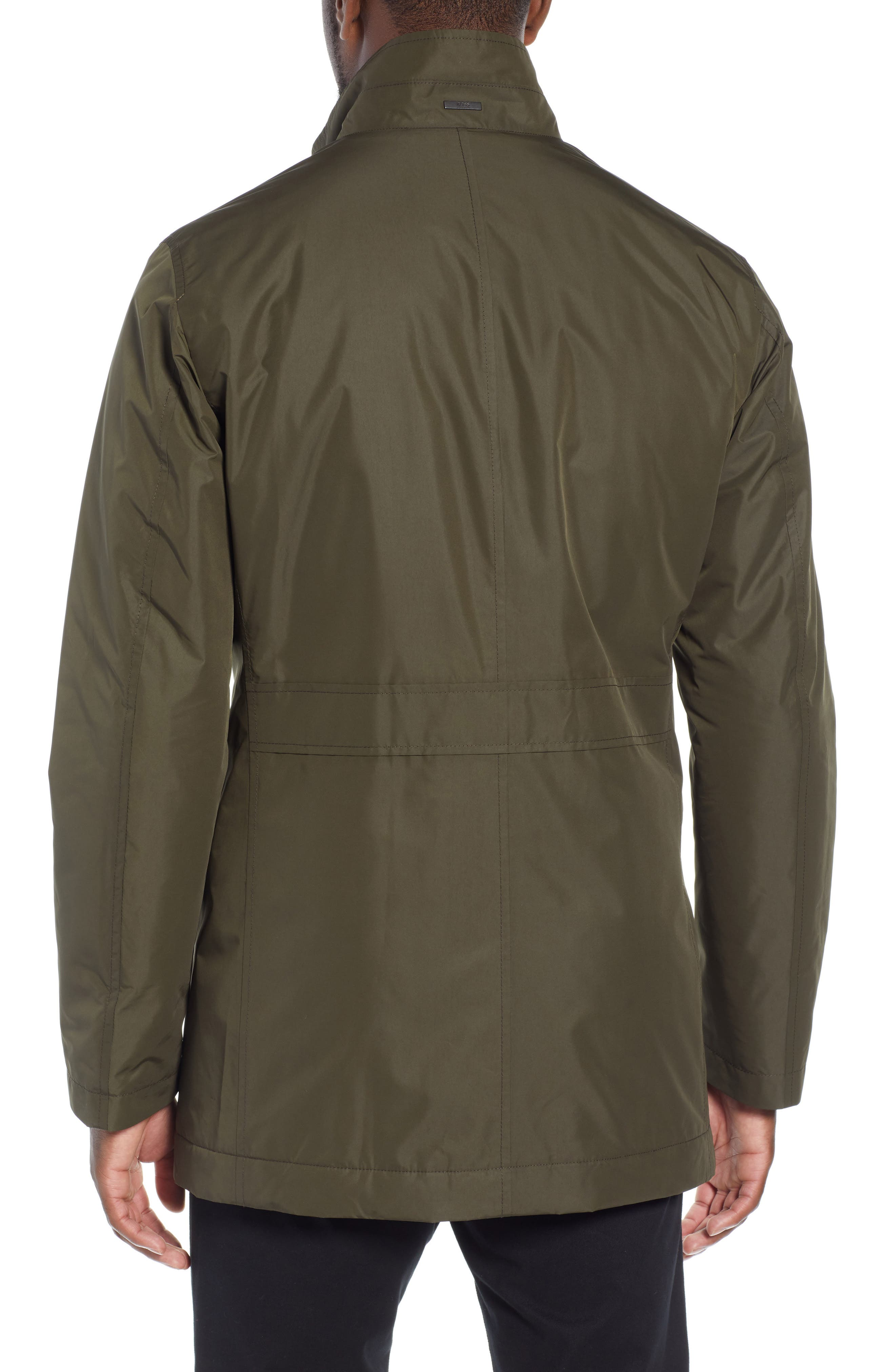 Carson Water Repellent Car Coat,                             Alternate thumbnail 2, color,                             GREEN