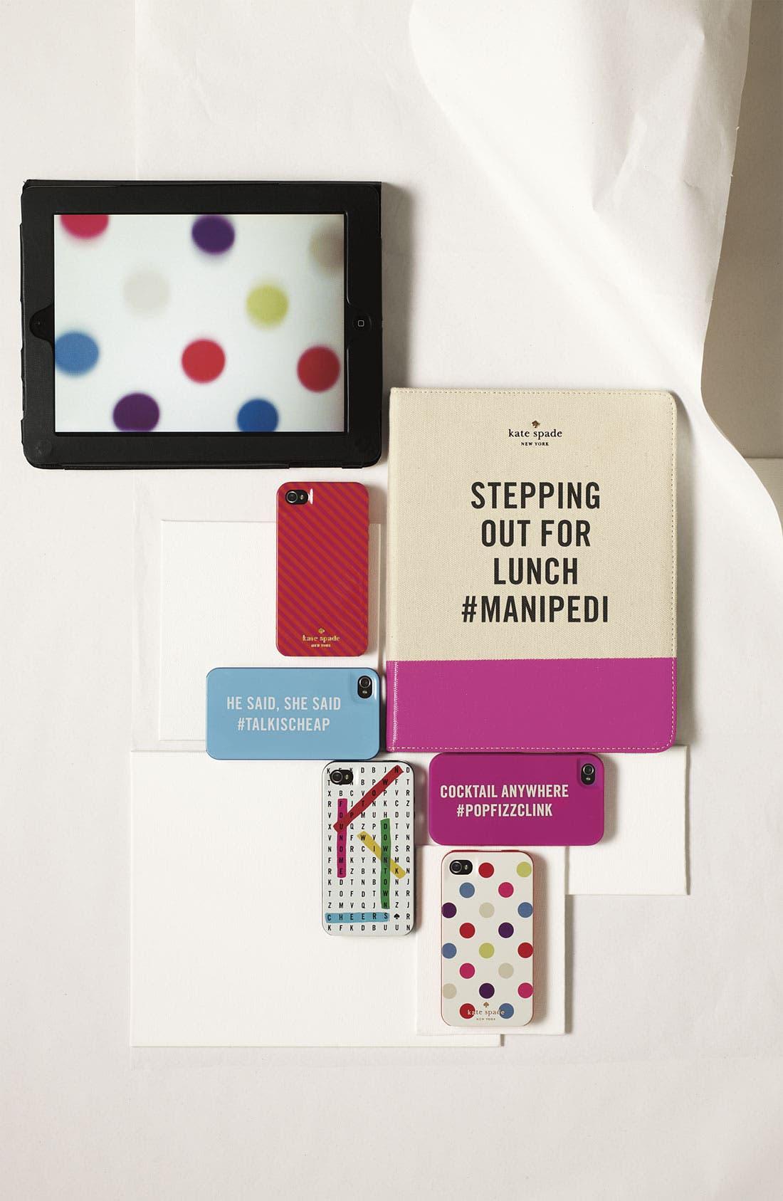 KATE SPADE NEW YORK,                             'mani pedi' iPad 2 & 3 folio,                             Alternate thumbnail 5, color,                             101