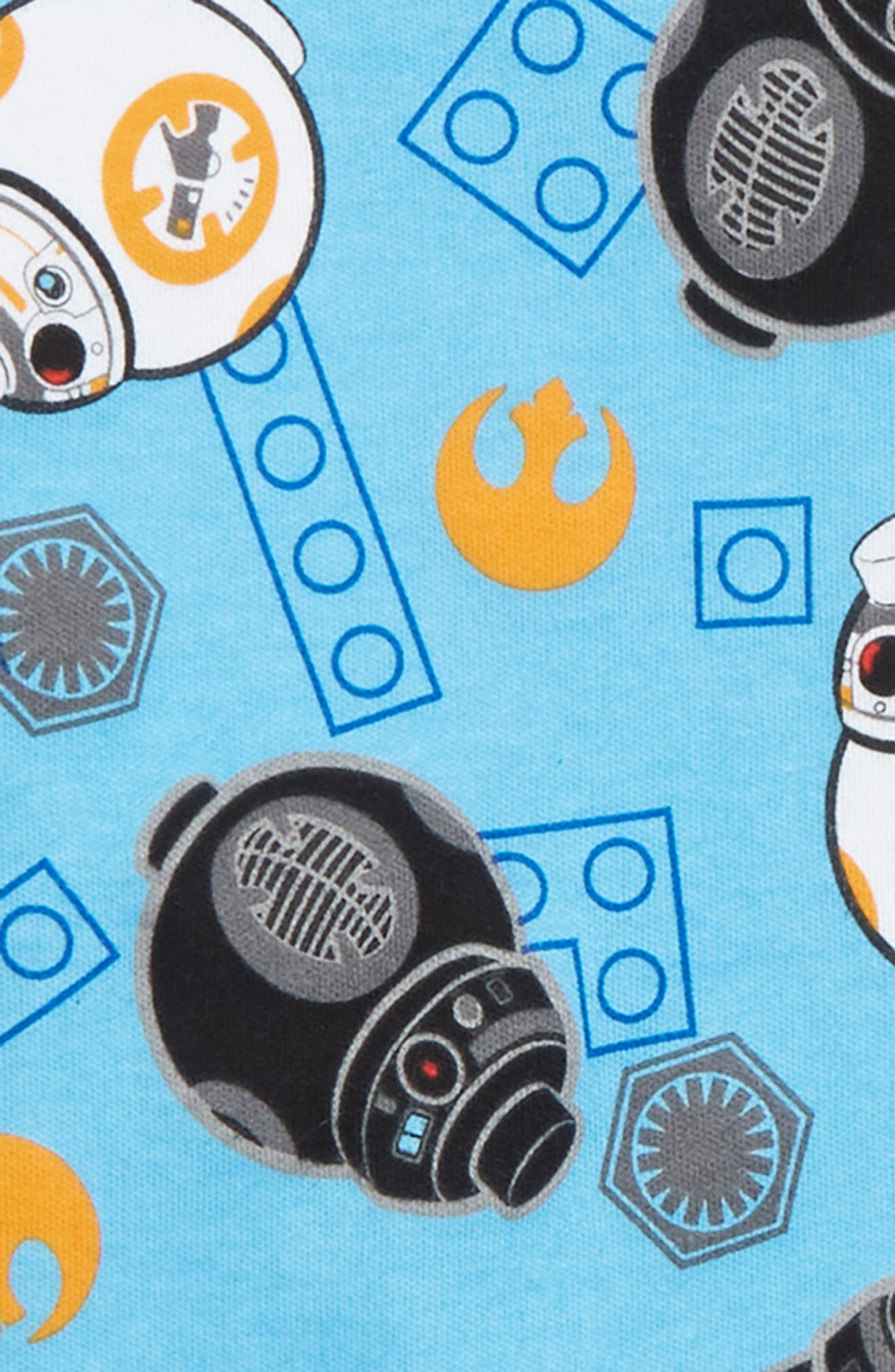 x Star Wars<sup>™</sup> Fitted Two-Piece Pajamas,                             Alternate thumbnail 2, color,                             BLUE