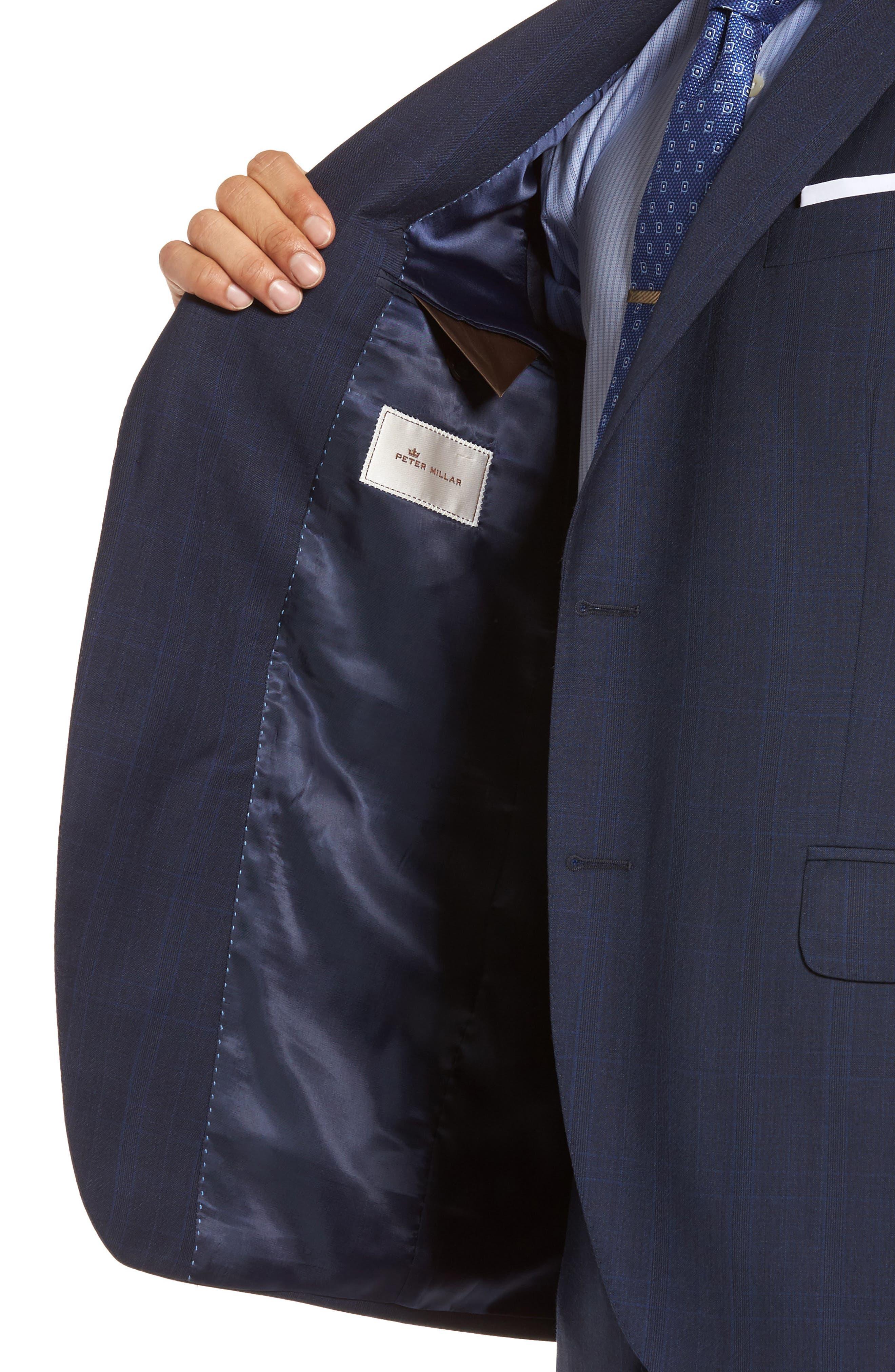 Classic Fit Plaid Wool Suit,                             Alternate thumbnail 4, color,                             410