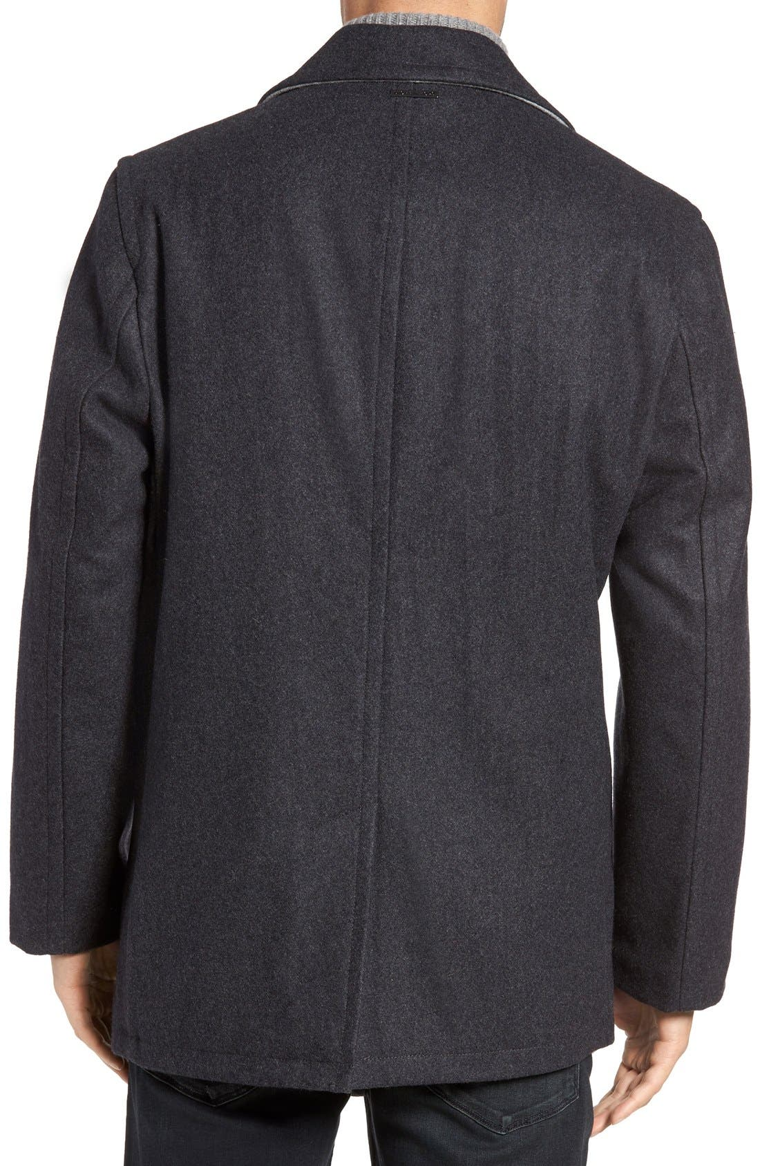 Wool Blend Double Breasted Peacoat,                             Alternate thumbnail 40, color,
