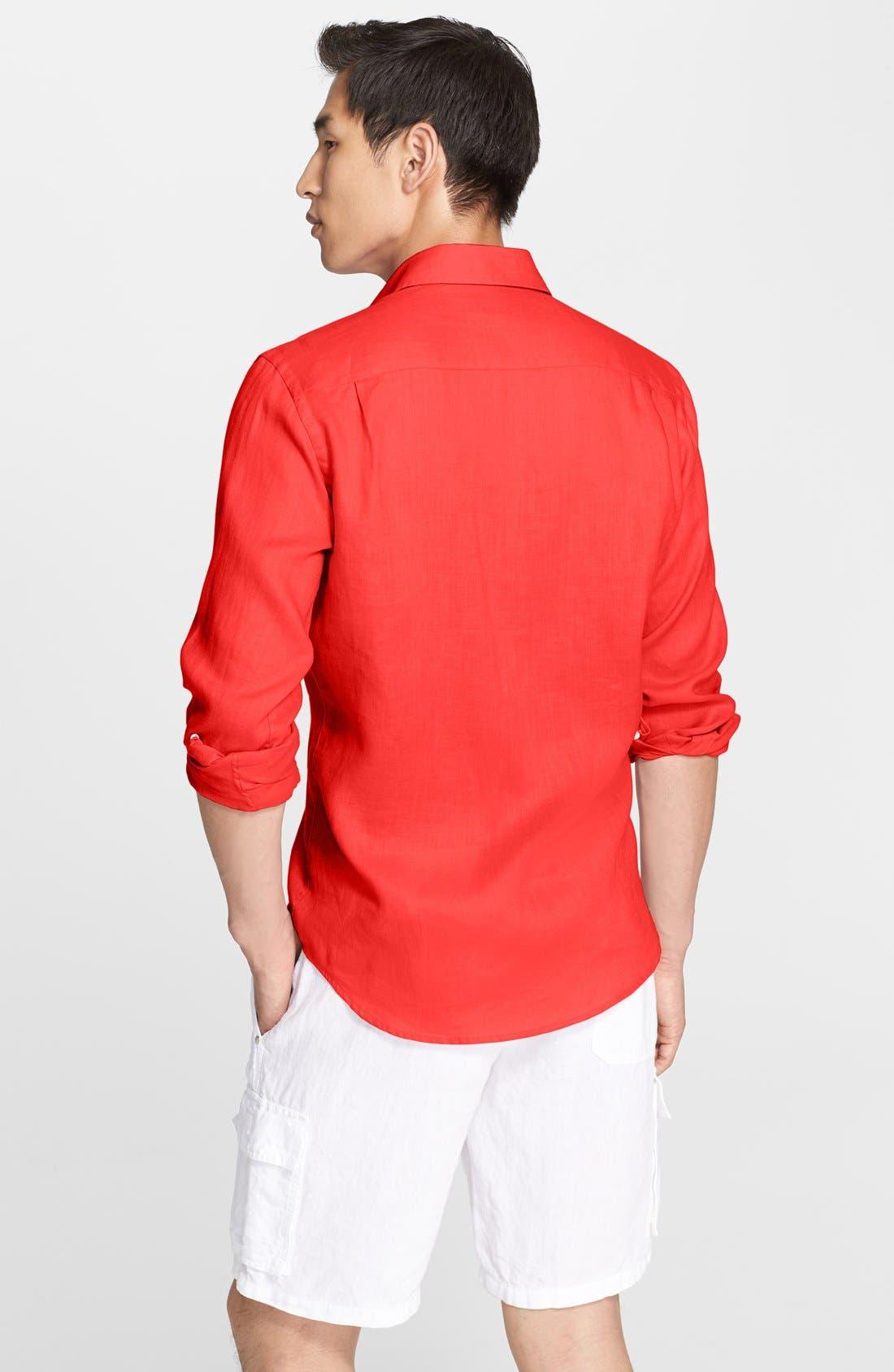 'Caroubier' Linen Shirt,                             Alternate thumbnail 28, color,