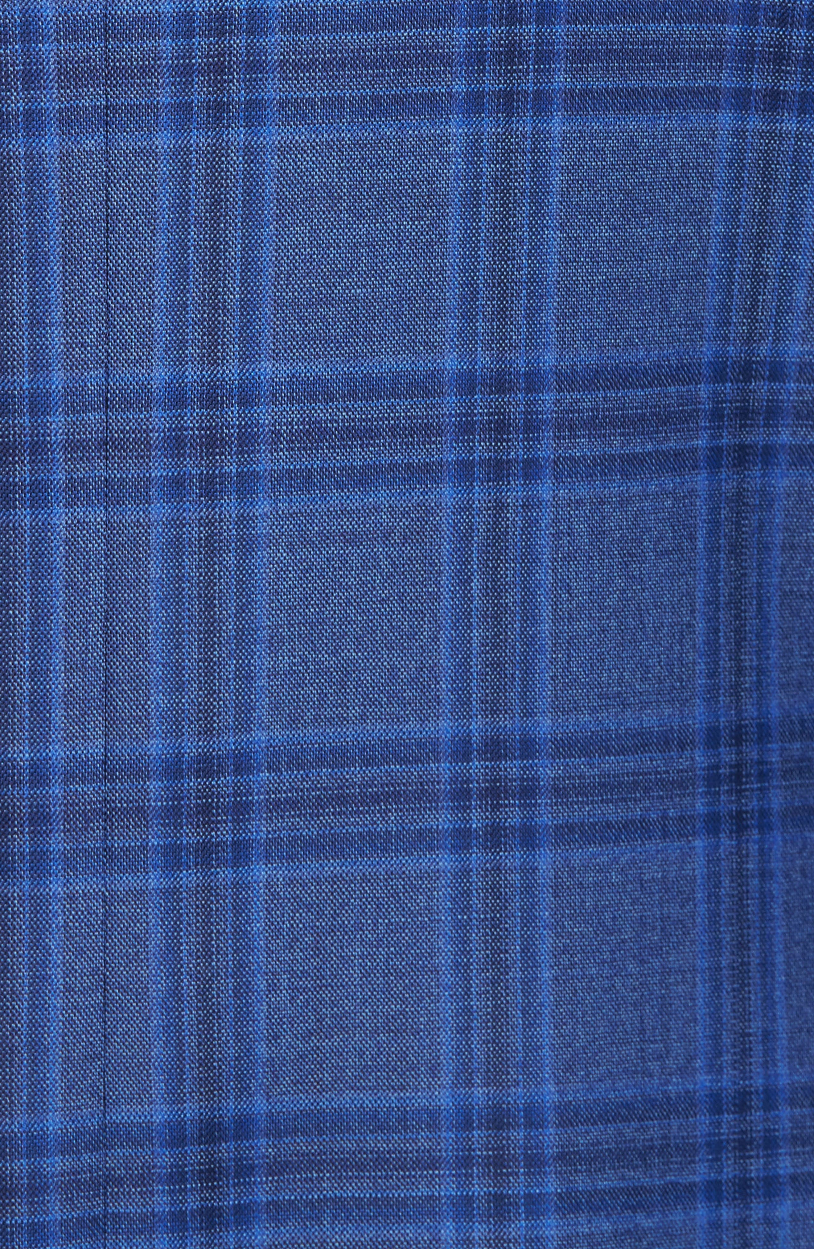 Classic Fit Plaid Wool Sport Coat,                             Alternate thumbnail 6, color,                             400