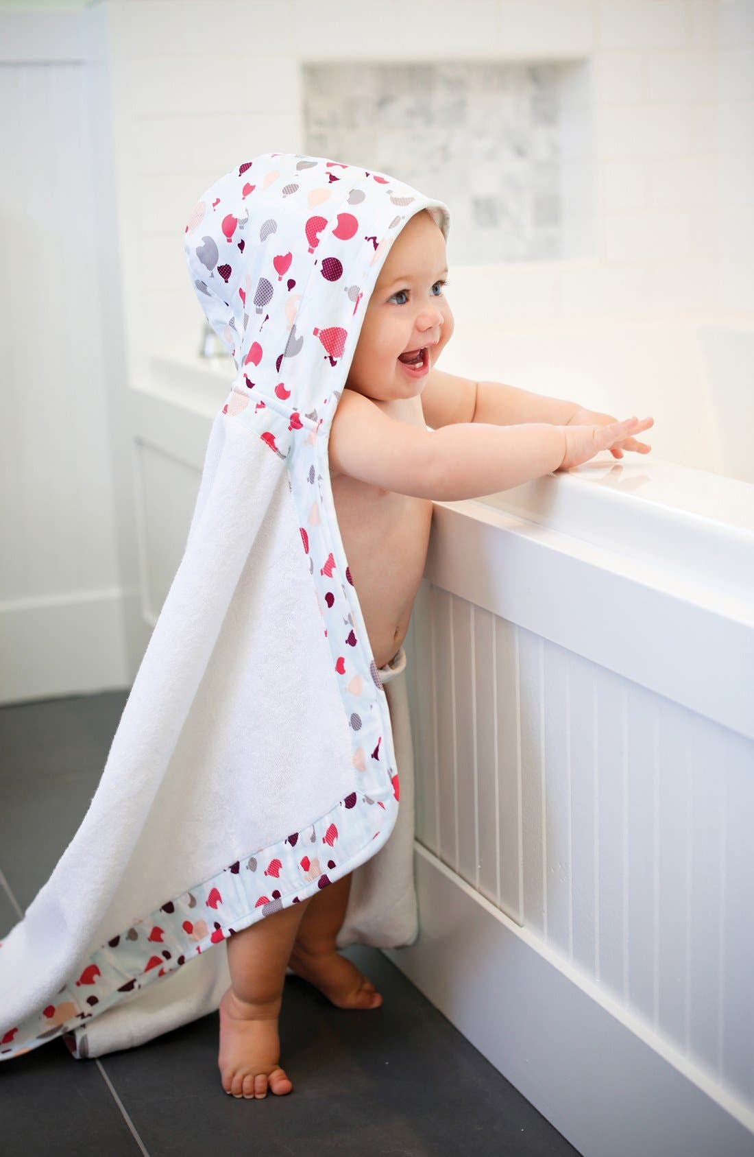 Lille Hooded Terry Towel,                             Alternate thumbnail 4, color,