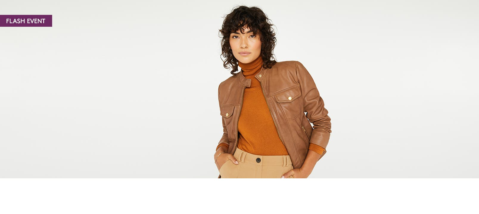Woman wearing Cole Haan clothing.