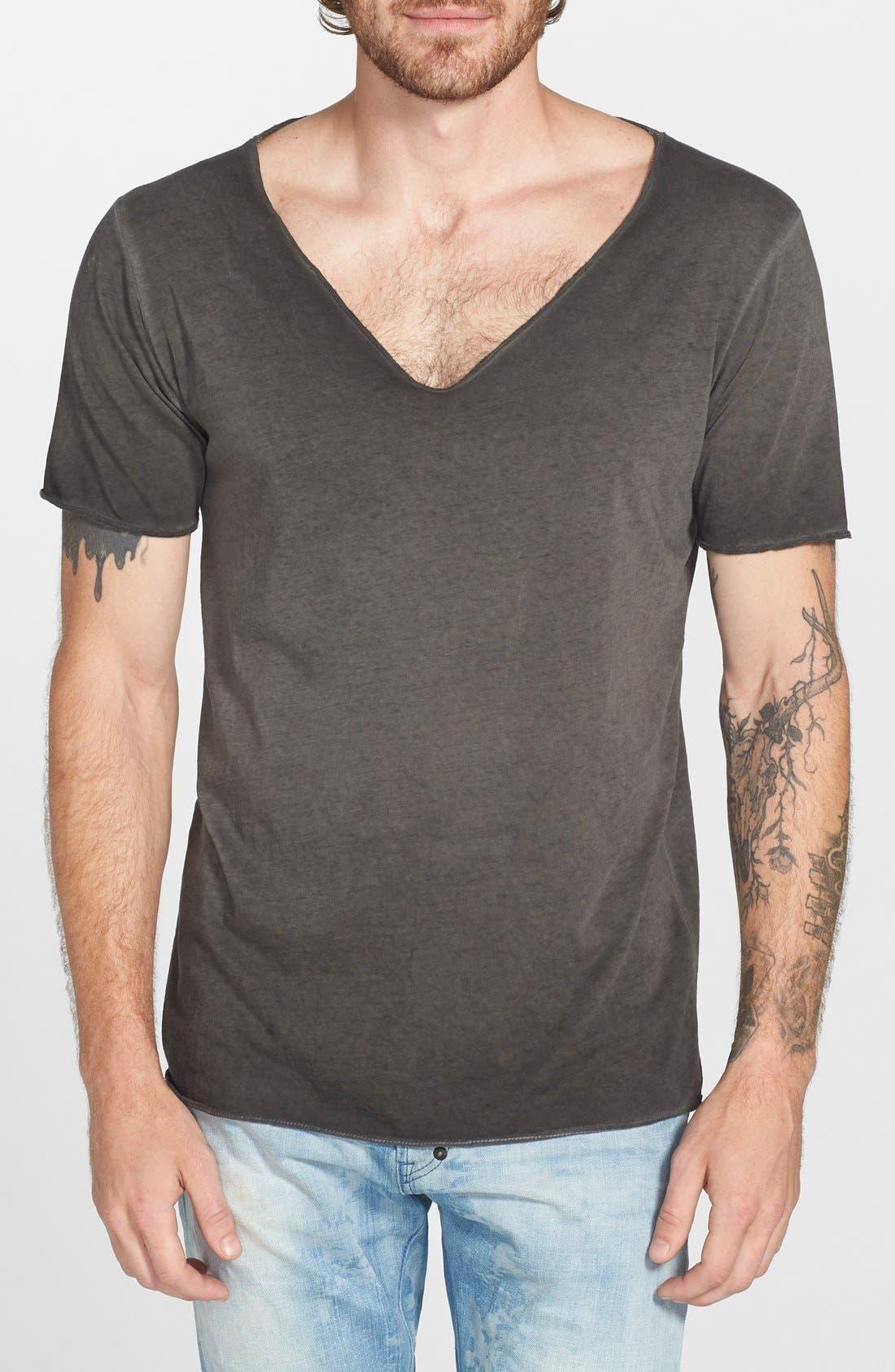 URBAN CAMO BRIGADE Wide V-Neck T-Shirt, Main, color, 001