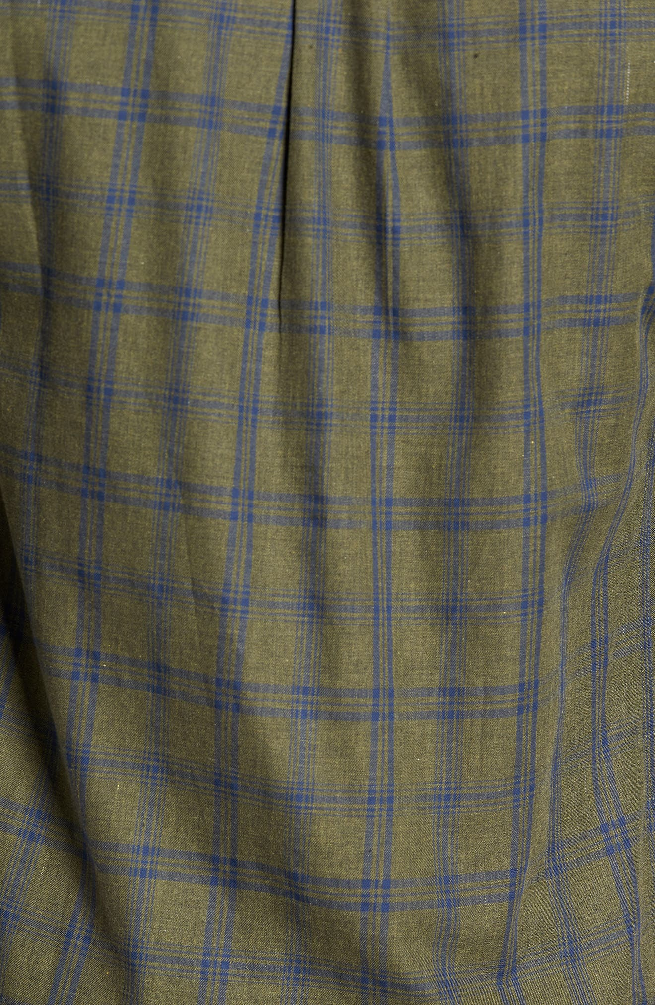 Vintage Army Plaid Sport Shirt,                             Alternate thumbnail 5, color,
