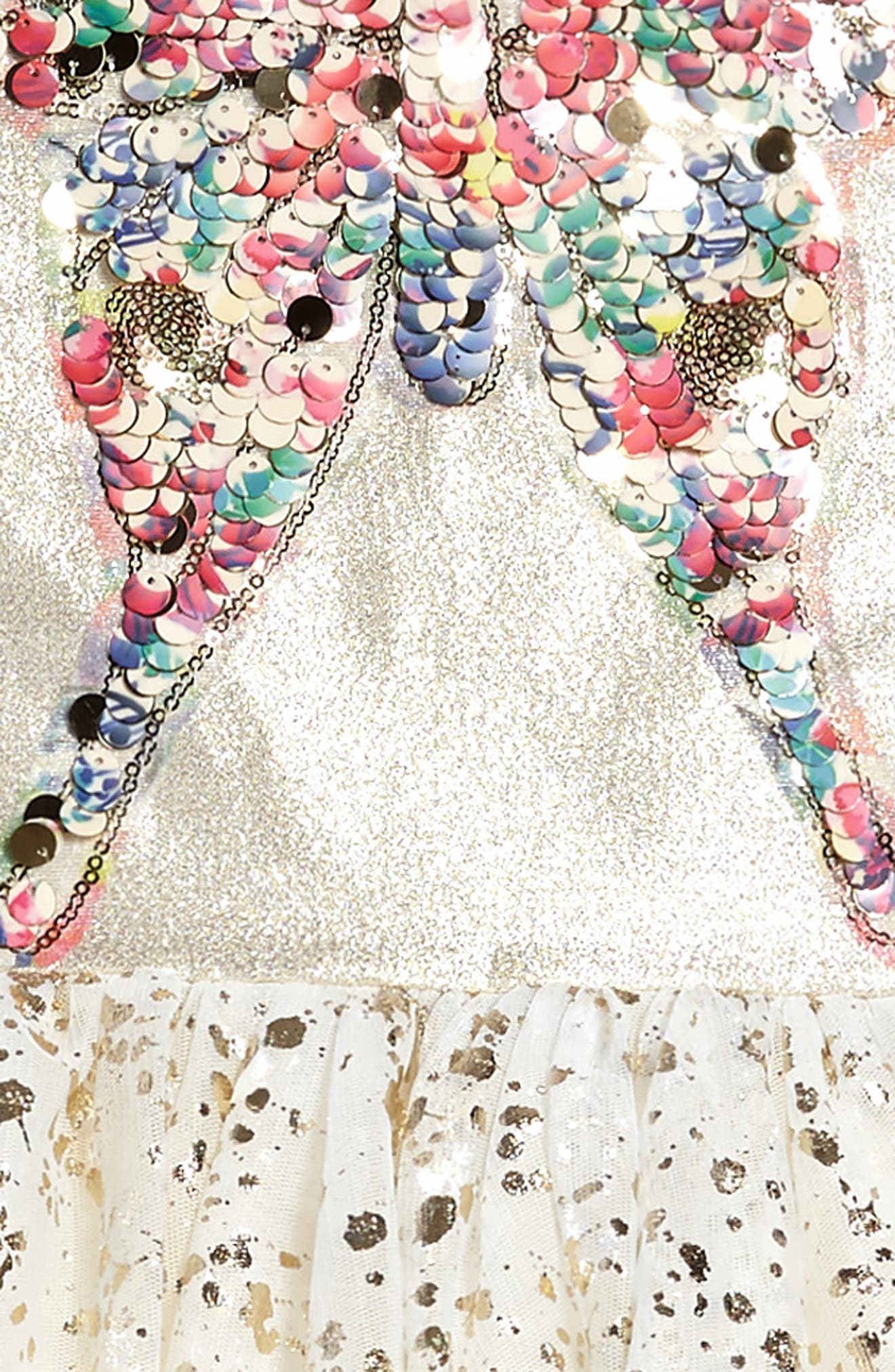 Sequin Butterfly Dress,                             Alternate thumbnail 3, color,