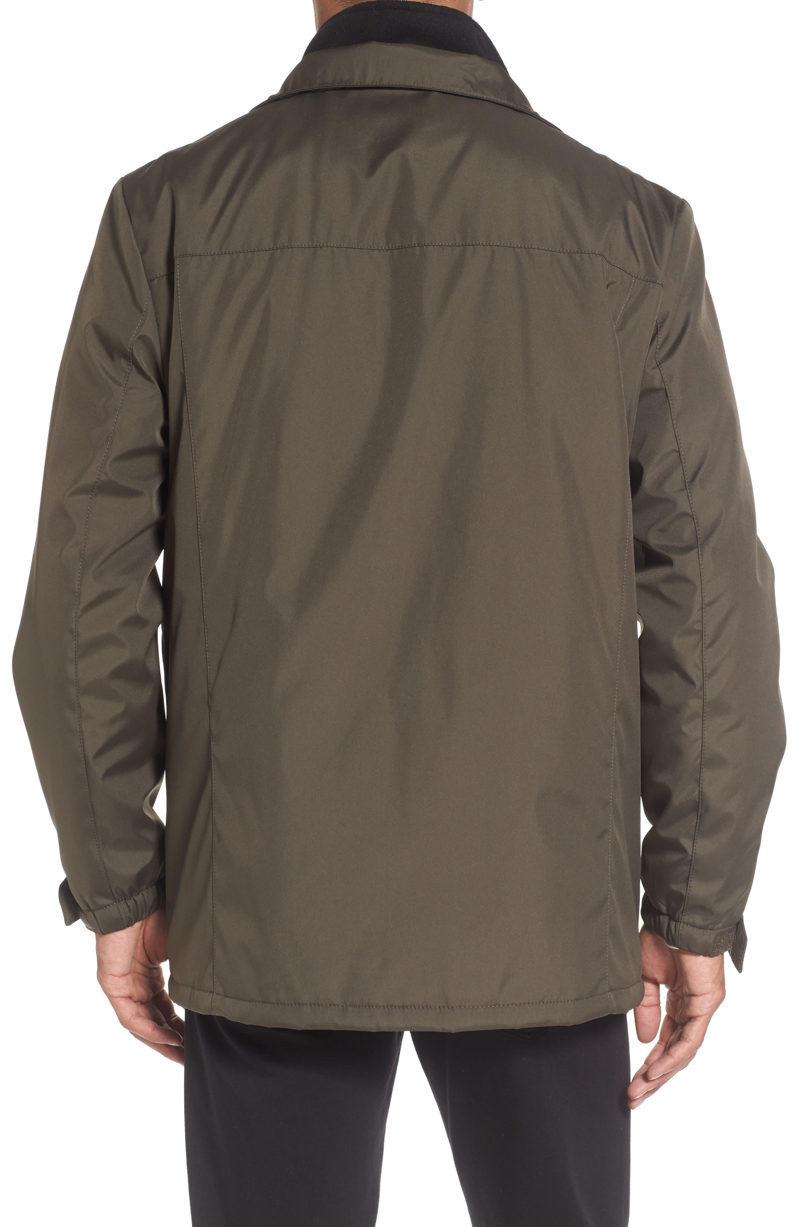 Hooded Jacket with Inset Fleece Bib,                             Alternate thumbnail 15, color,