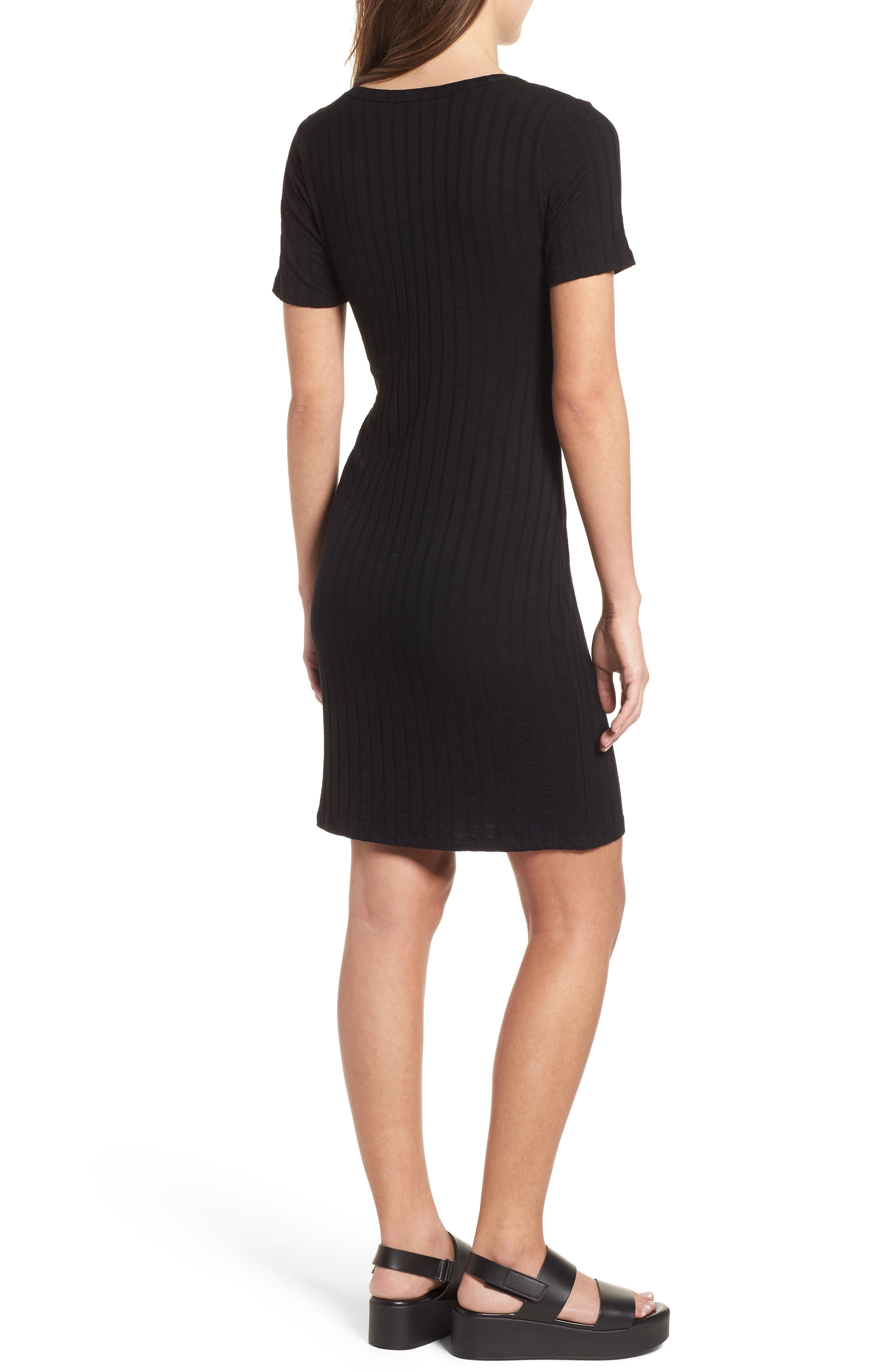 Project Social T Ribbed Body-Con Dress,                             Alternate thumbnail 2, color,                             001
