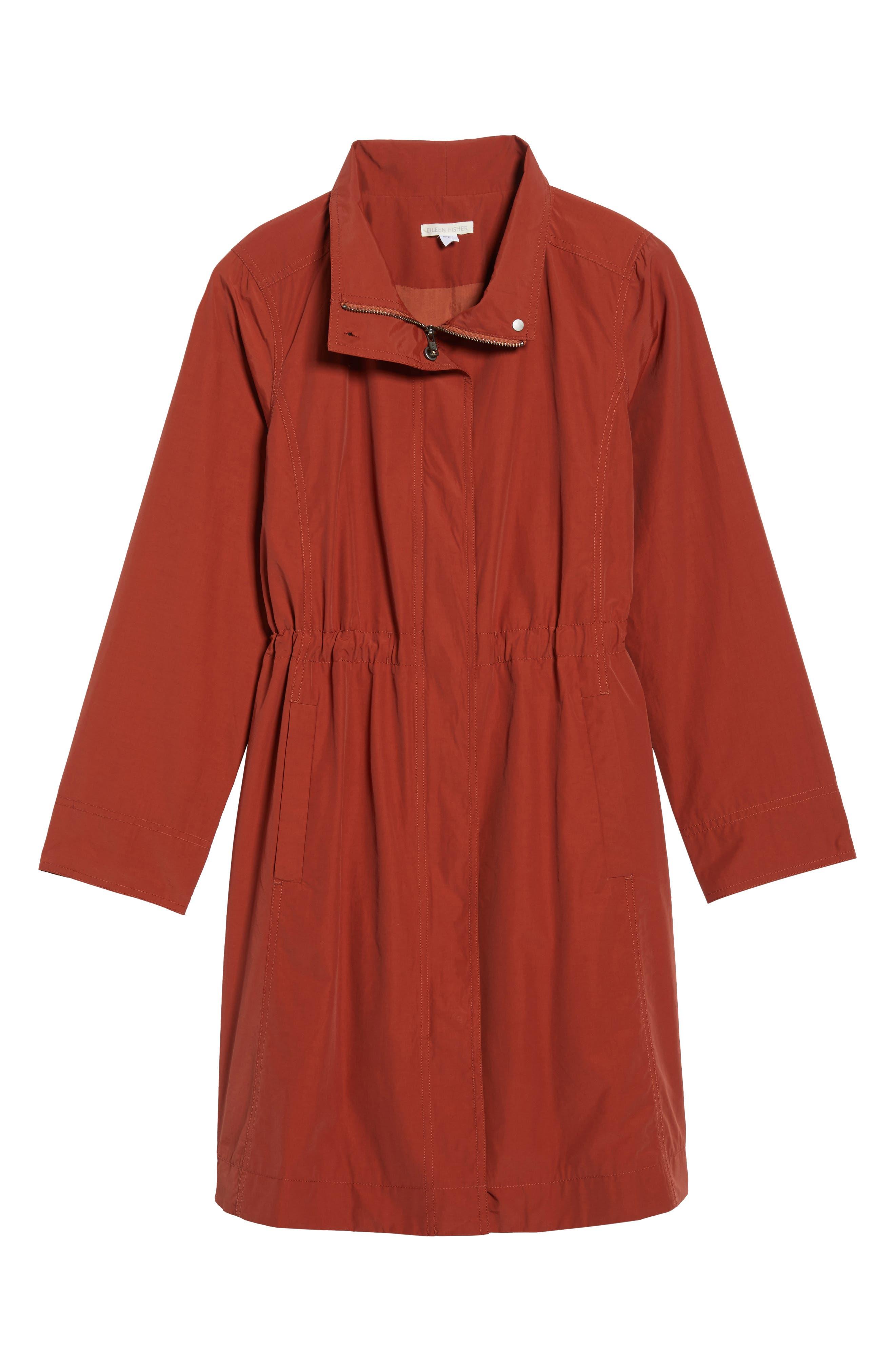 Long Organic Cotton Blend Jacket,                             Alternate thumbnail 4, color,