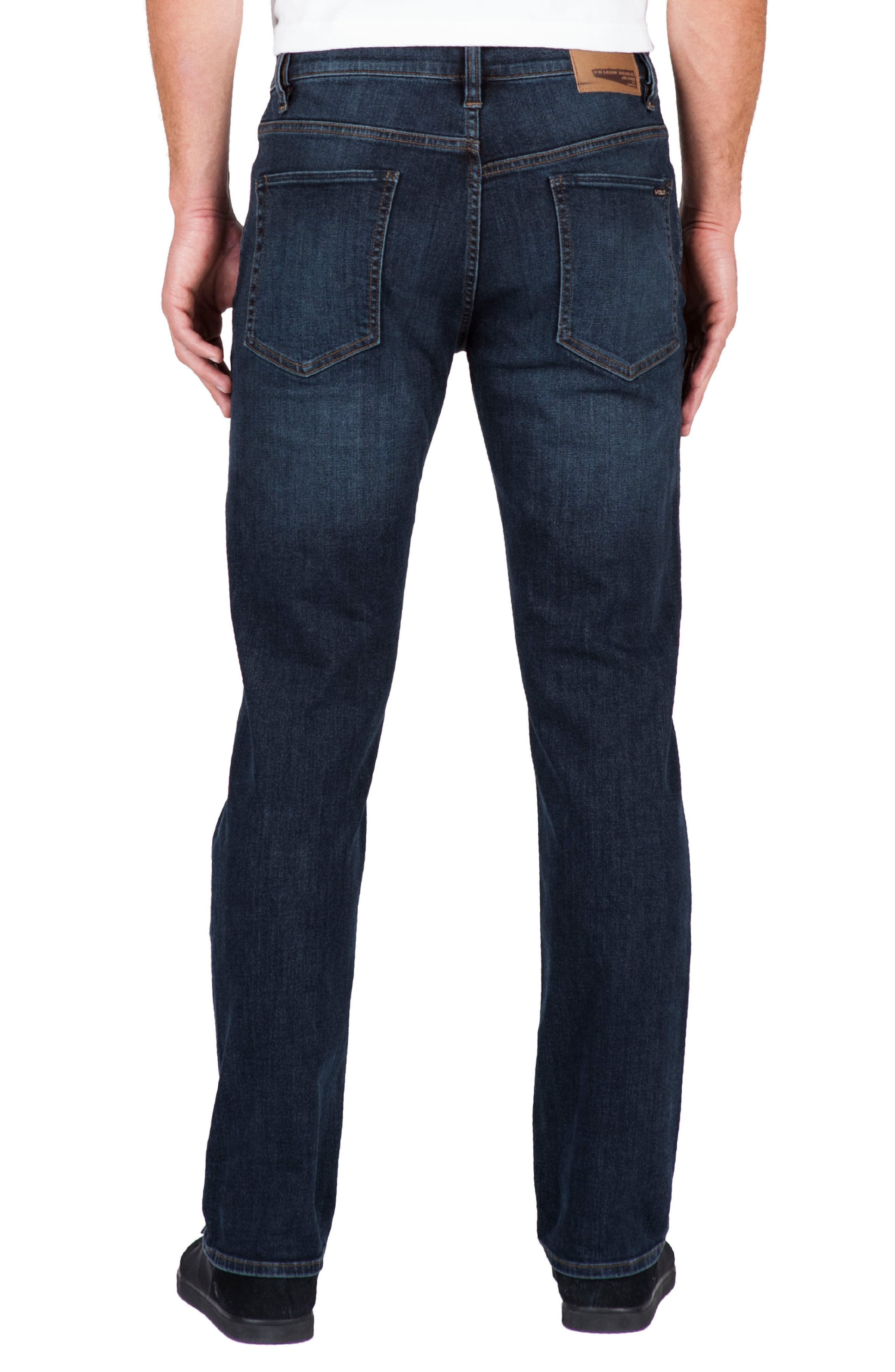 'Solver' Straight Leg Jeans,                             Alternate thumbnail 2, color,                             BLUE VNT