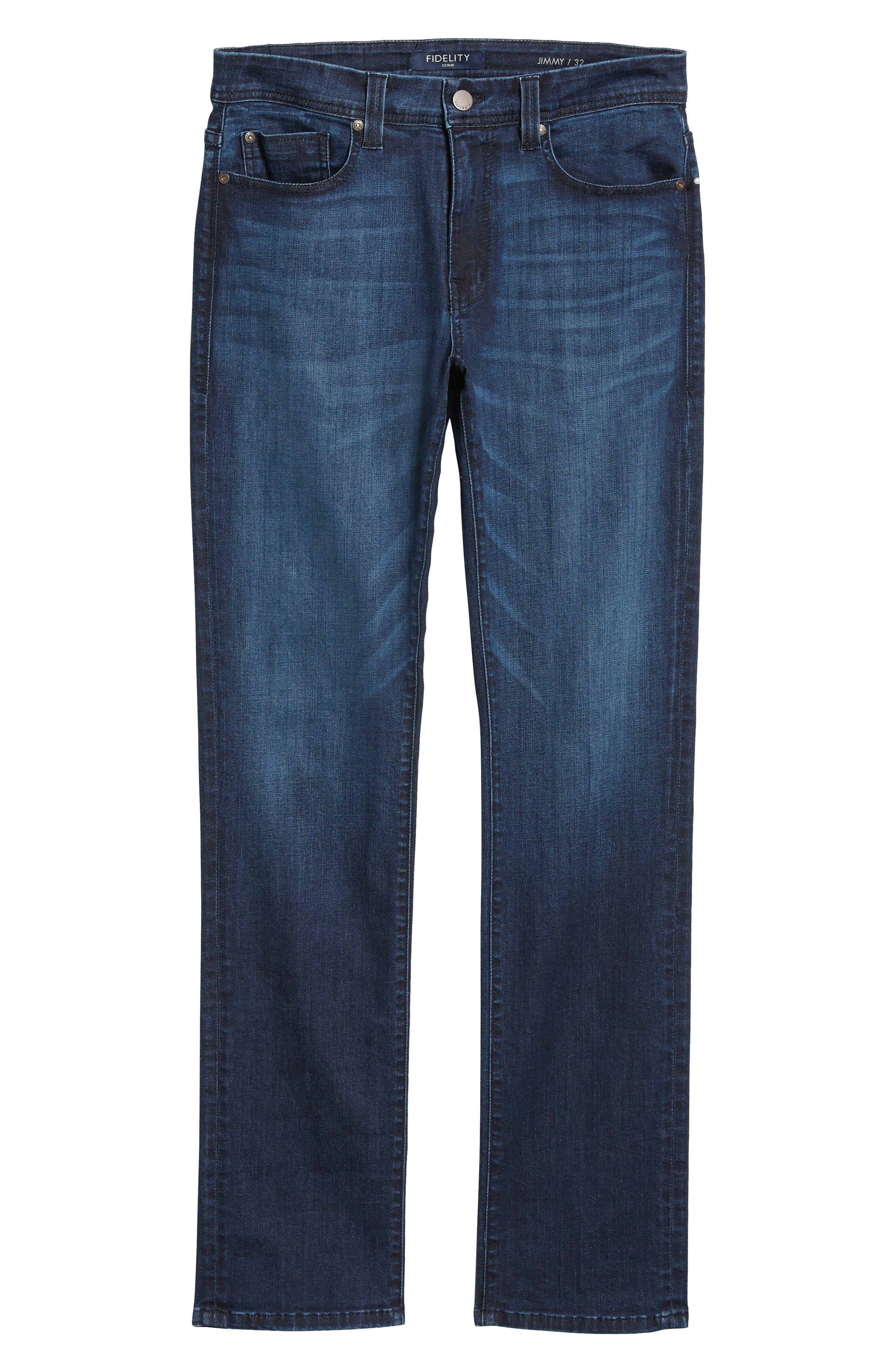 Jimmy Slim Straight Leg Jeans,                             Alternate thumbnail 6, color,                             400