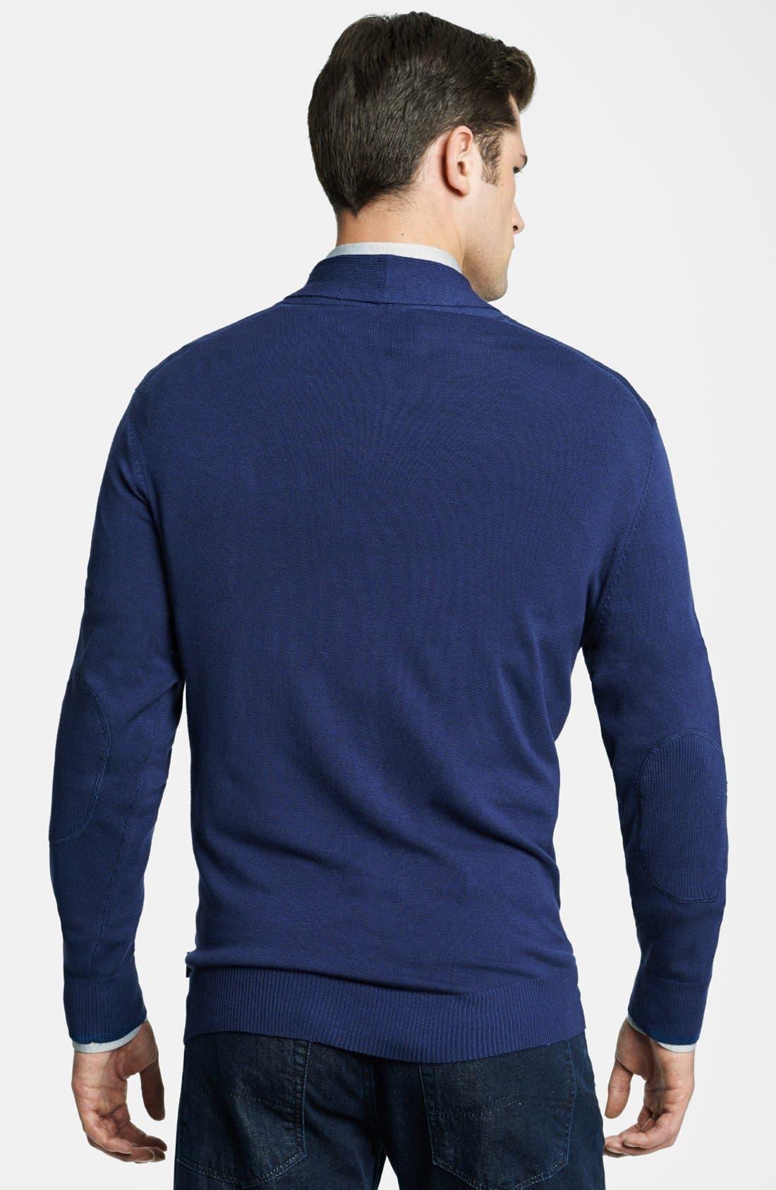 Armani Collezioni Shawl Collar Sweater,                             Alternate thumbnail 2, color,                             404