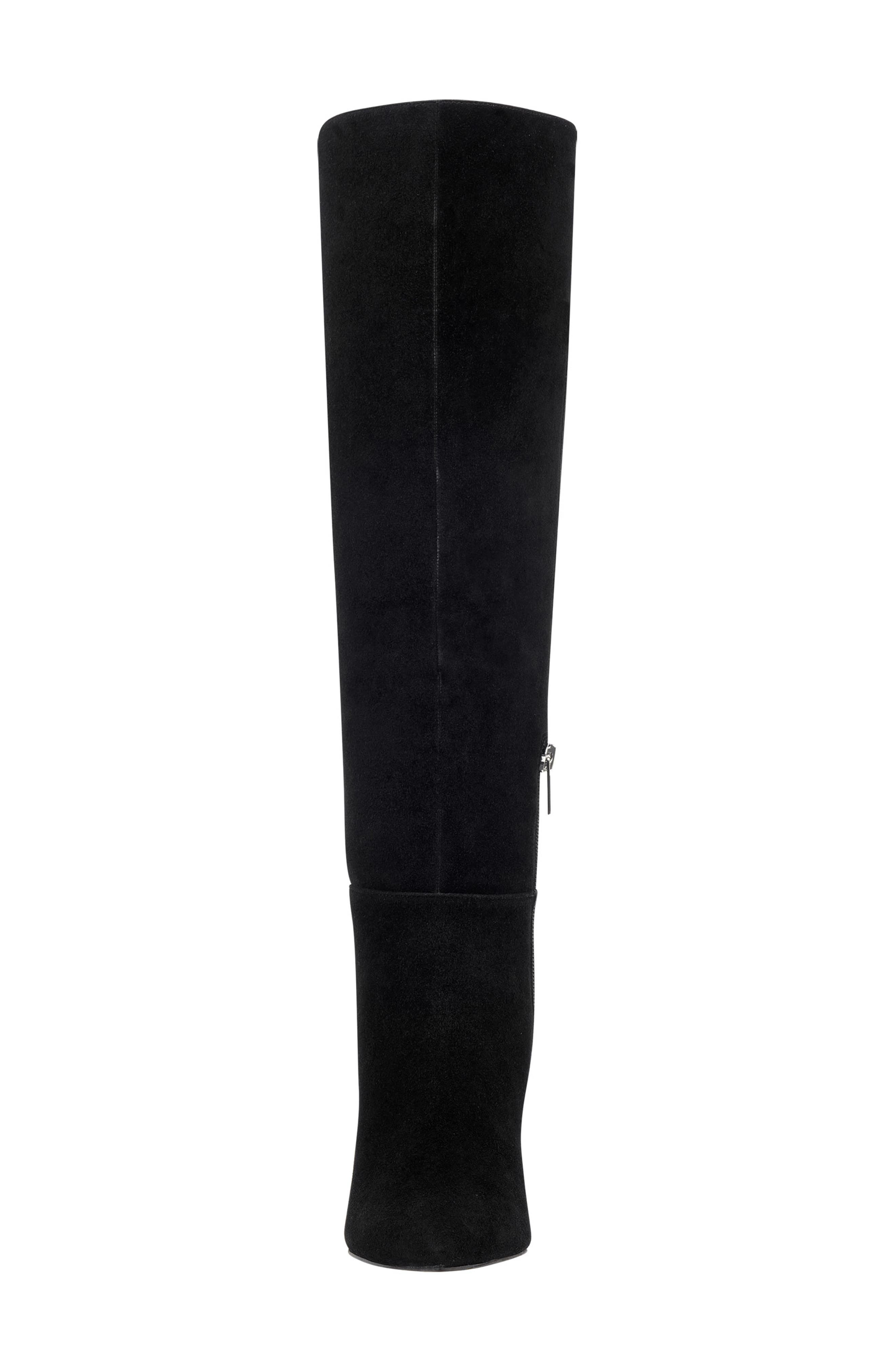 Ulana Knee High Boot,                             Alternate thumbnail 4, color,                             BLACK SUEDE