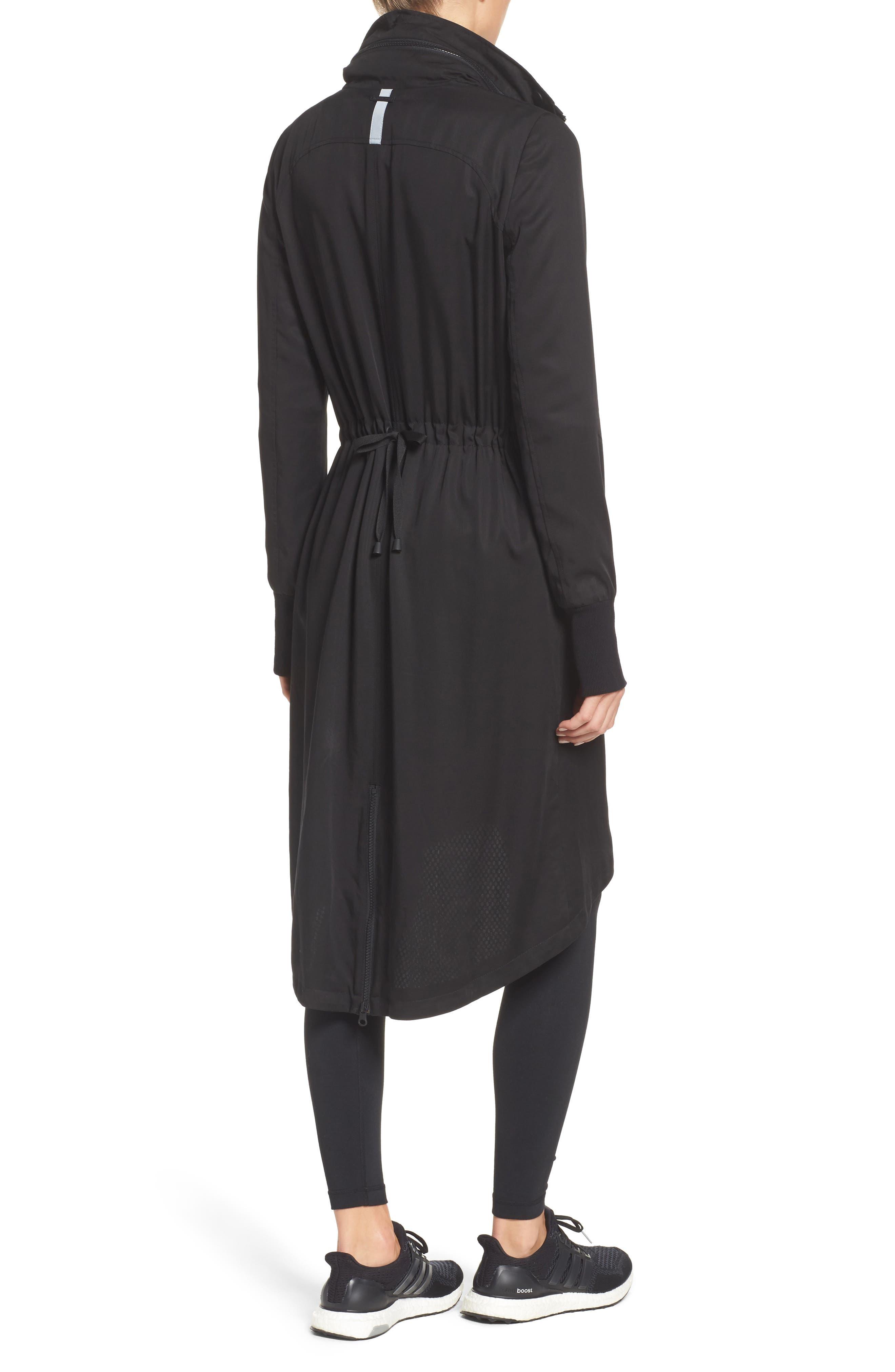 Blank Noir Hooded Water Resistant Anorak,                             Alternate thumbnail 2, color,                             BLACK