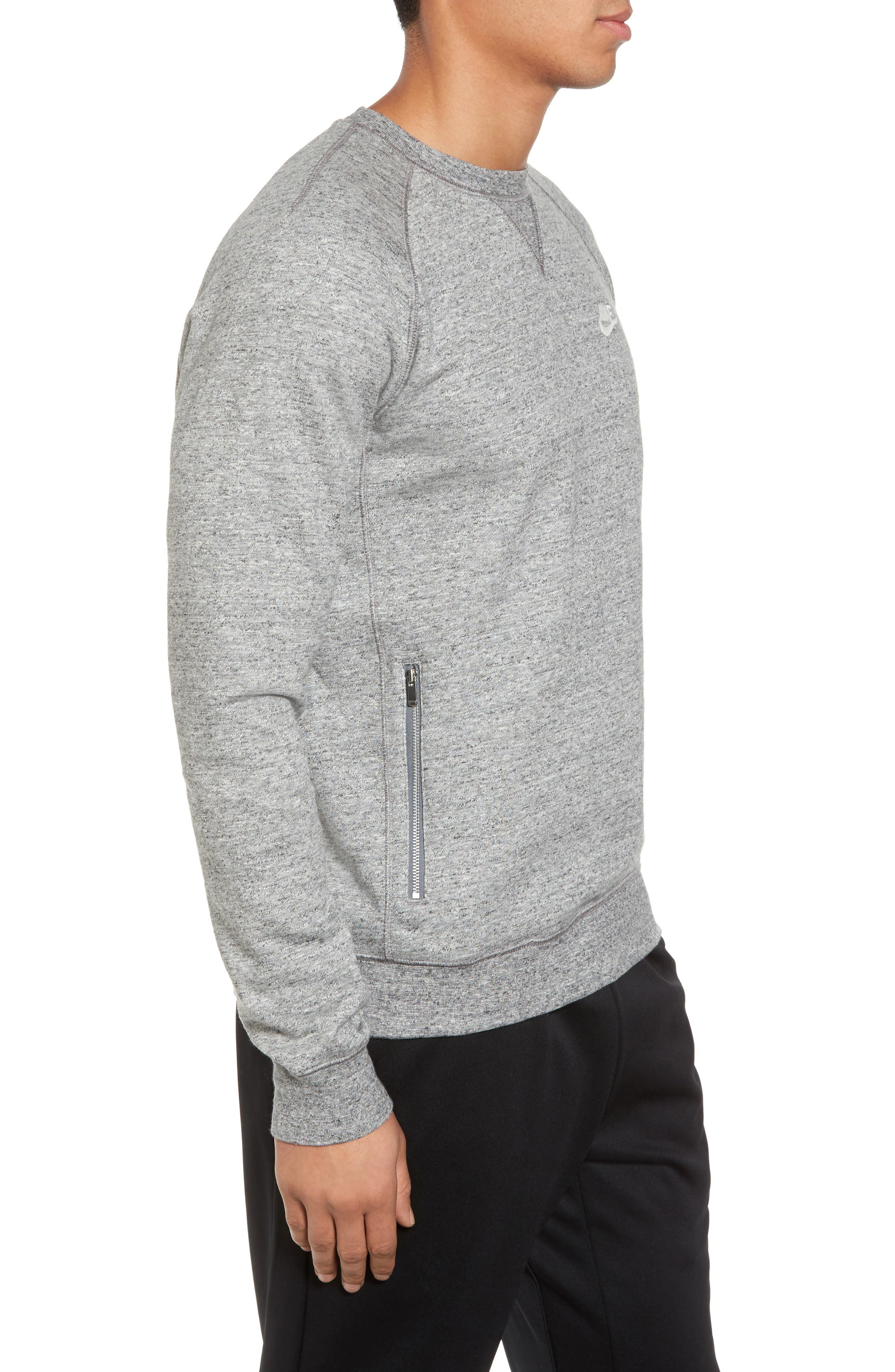 Legacy Raglan Crewneck Sweatshirt,                             Alternate thumbnail 3, color,                             092