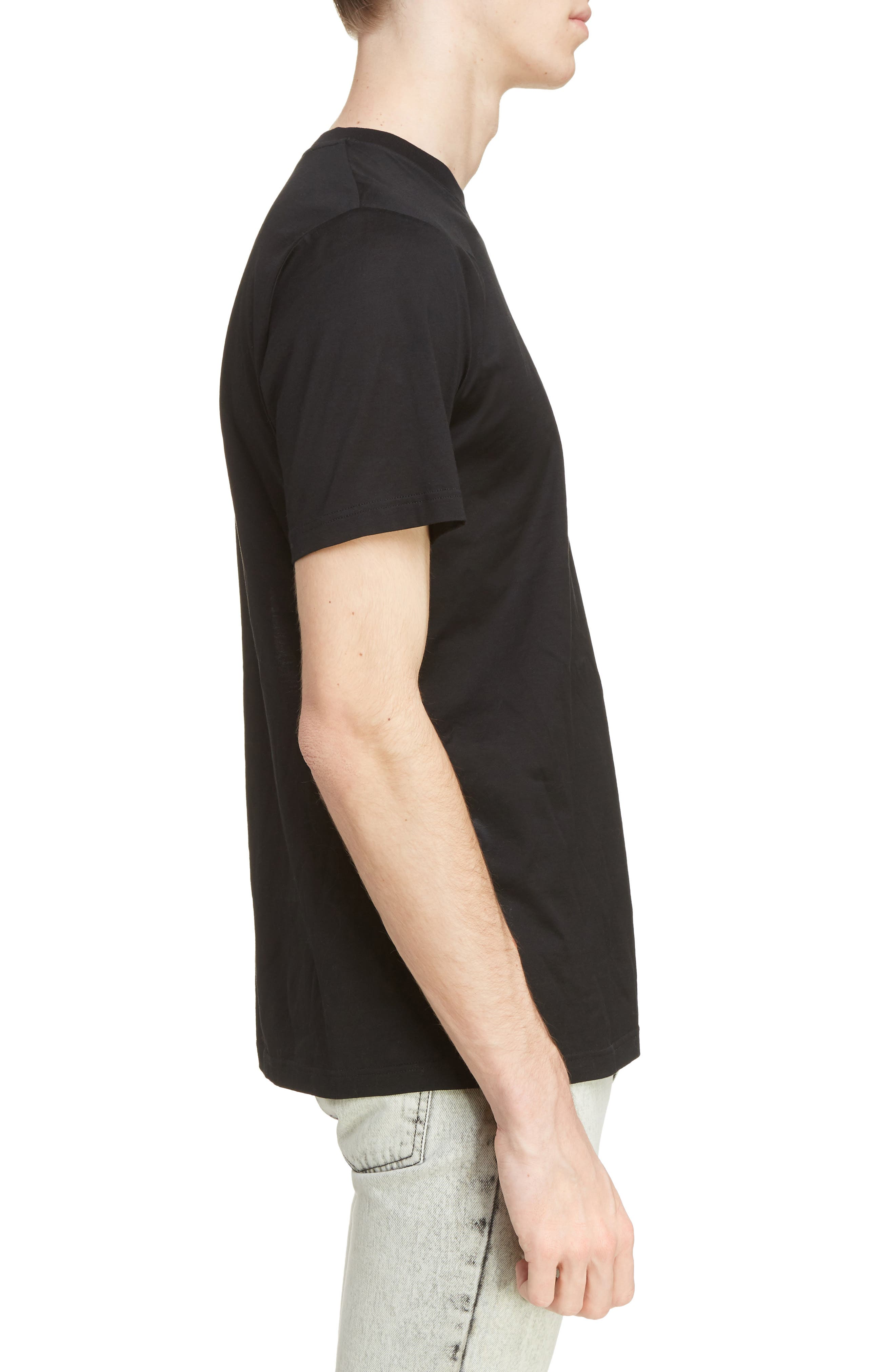 Reflective Tape Logo T-Shirt,                             Alternate thumbnail 3, color,                             BLACK
