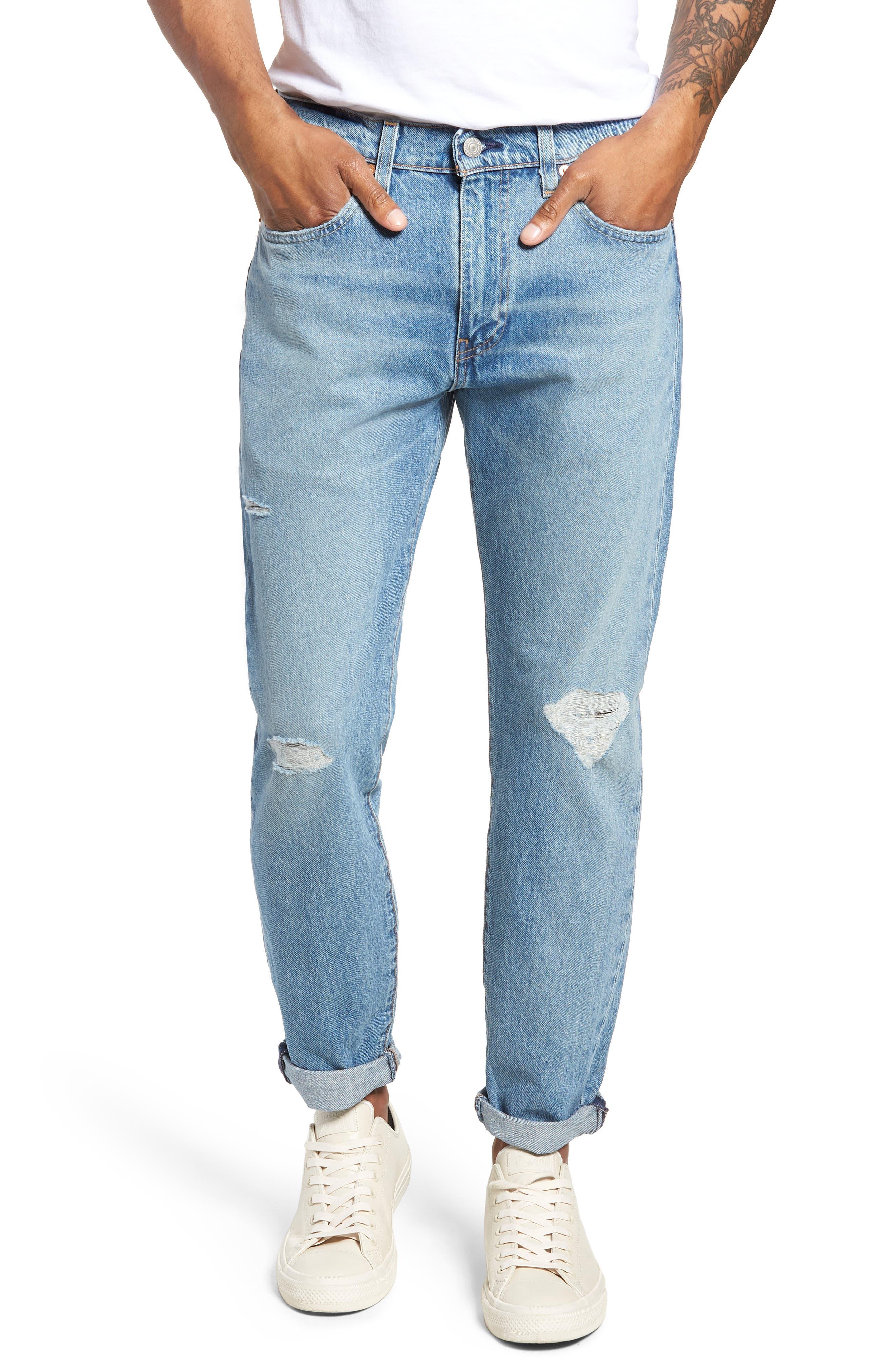 Hi-Ball Straight Leg Jeans,                             Main thumbnail 1, color,                             LIGHT BLUE