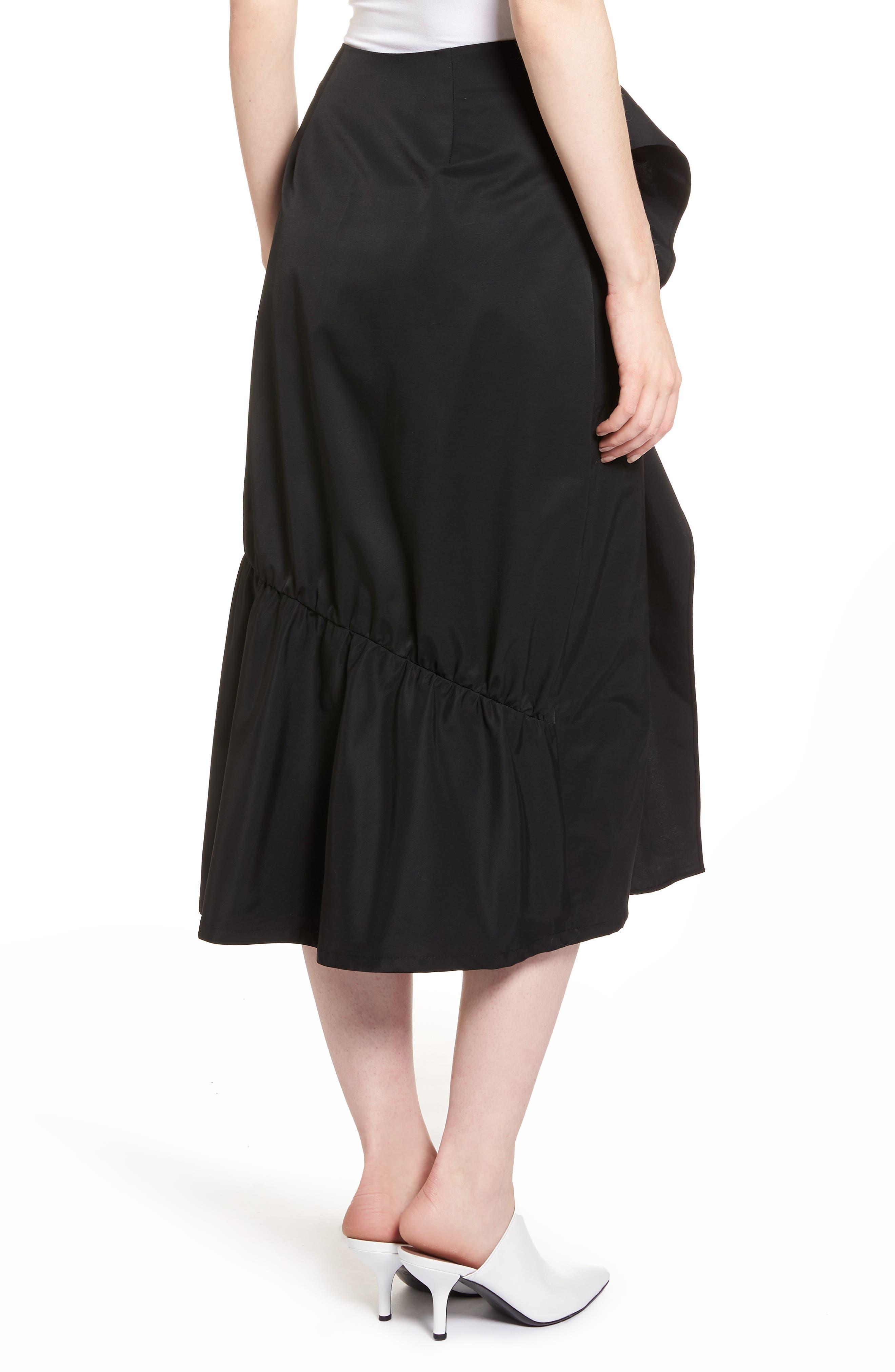 Ruffle Front Skirt,                             Alternate thumbnail 2, color,                             001