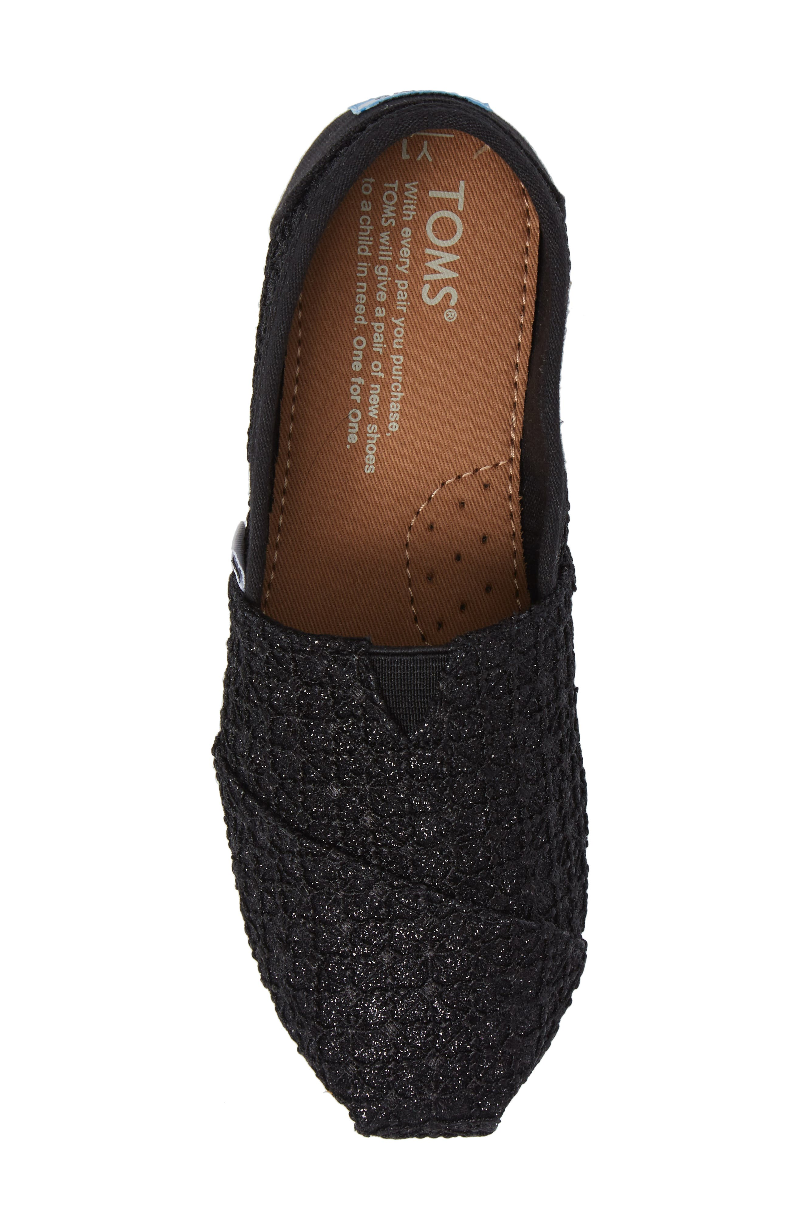Lace Glimmer Slip-On,                             Alternate thumbnail 5, color,                             001
