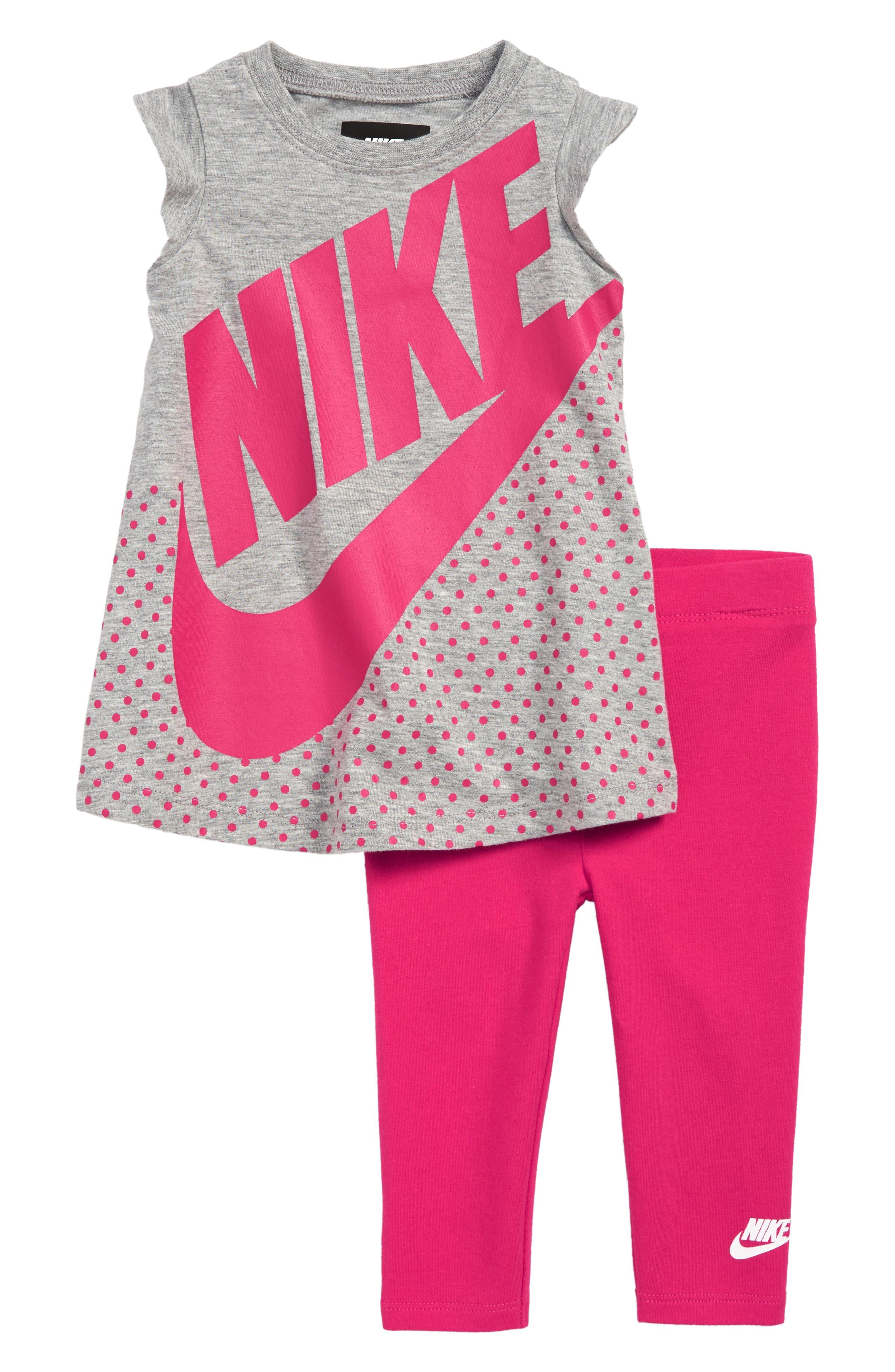 Futura Dress & Leggings Set,                         Main,                         color, DARK GREY HEATHER