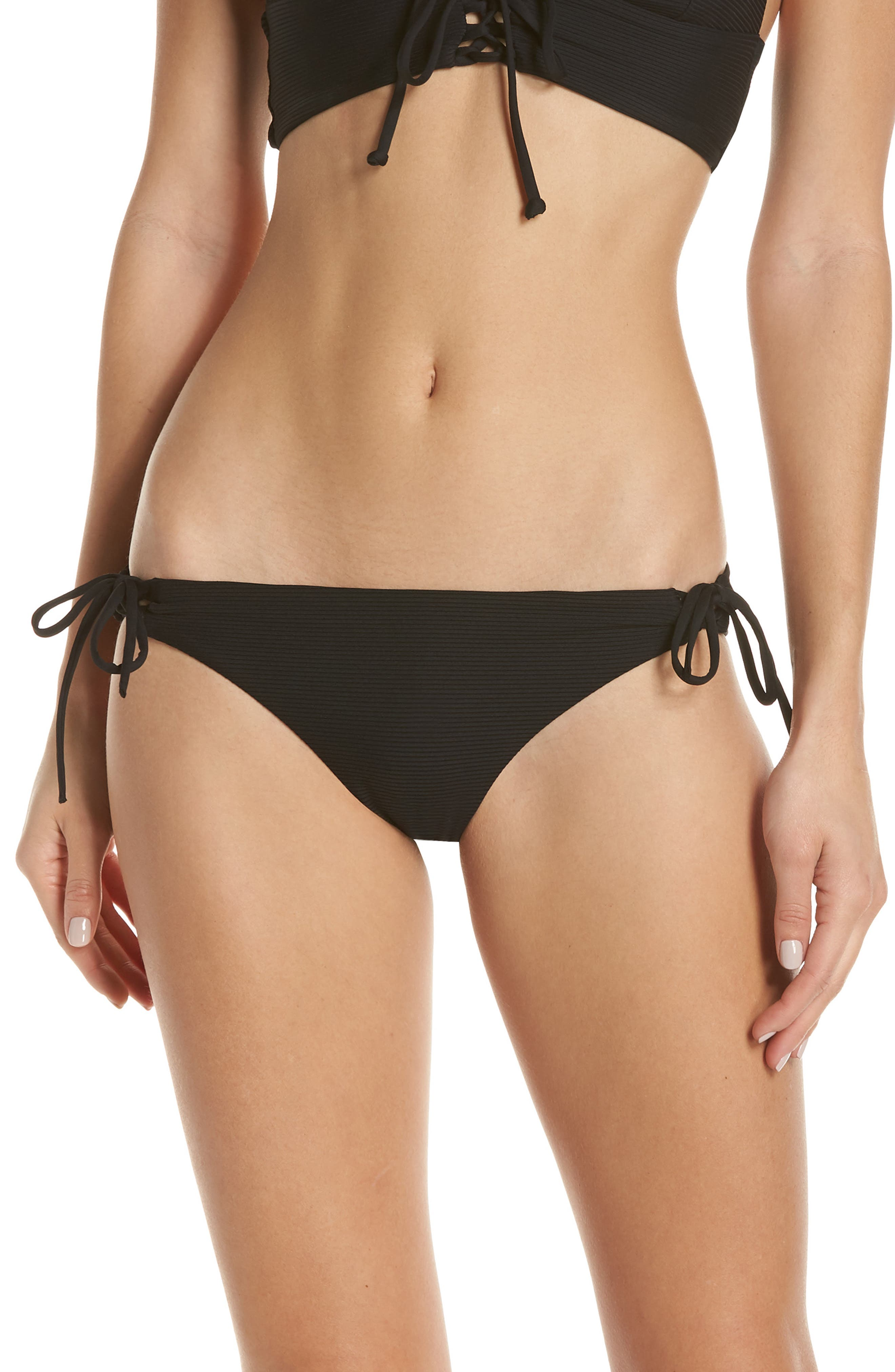 Onia Erica Lace-Up Side Bikini Bottoms