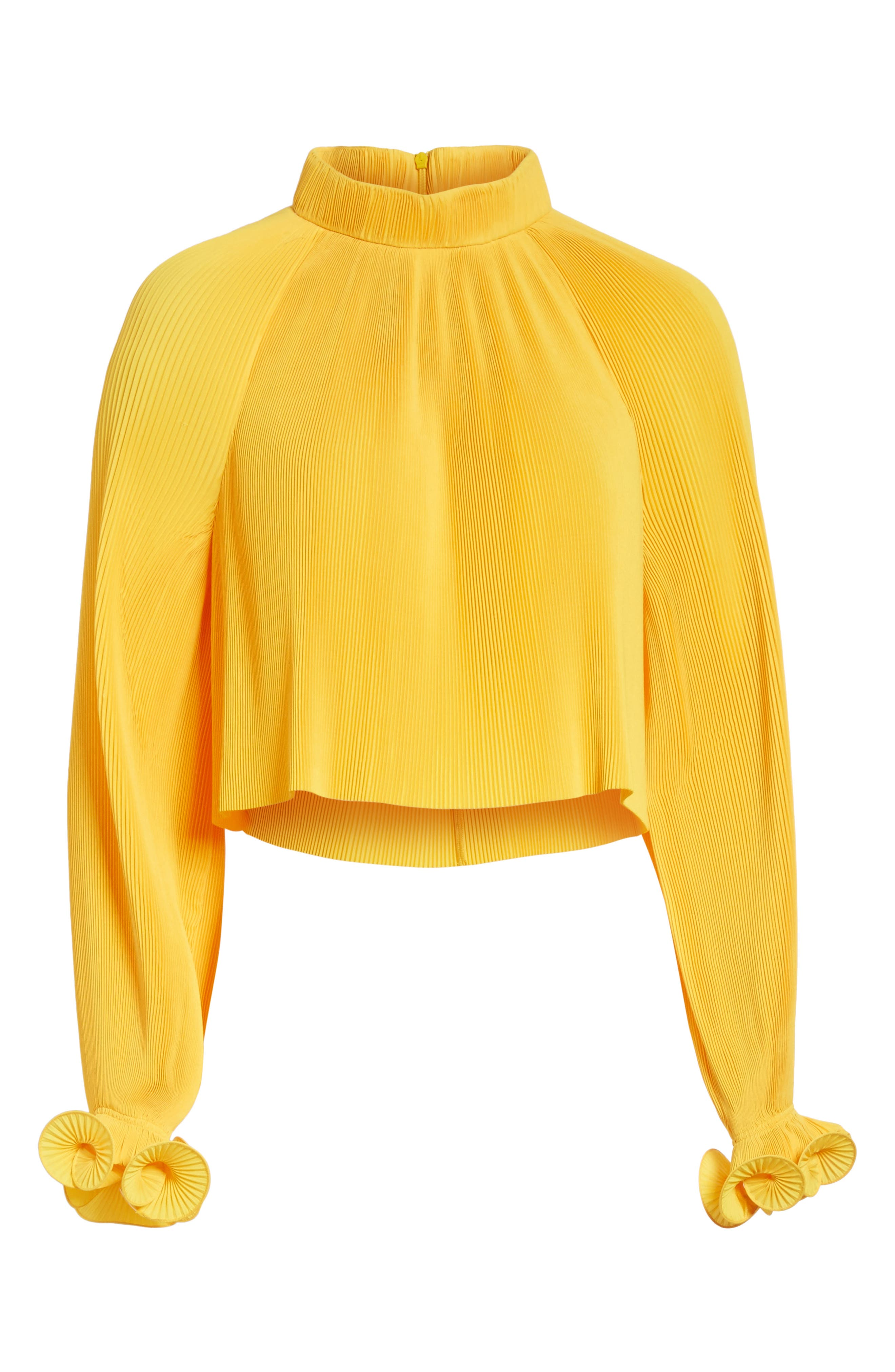 Pleated Crop Top,                             Alternate thumbnail 25, color,