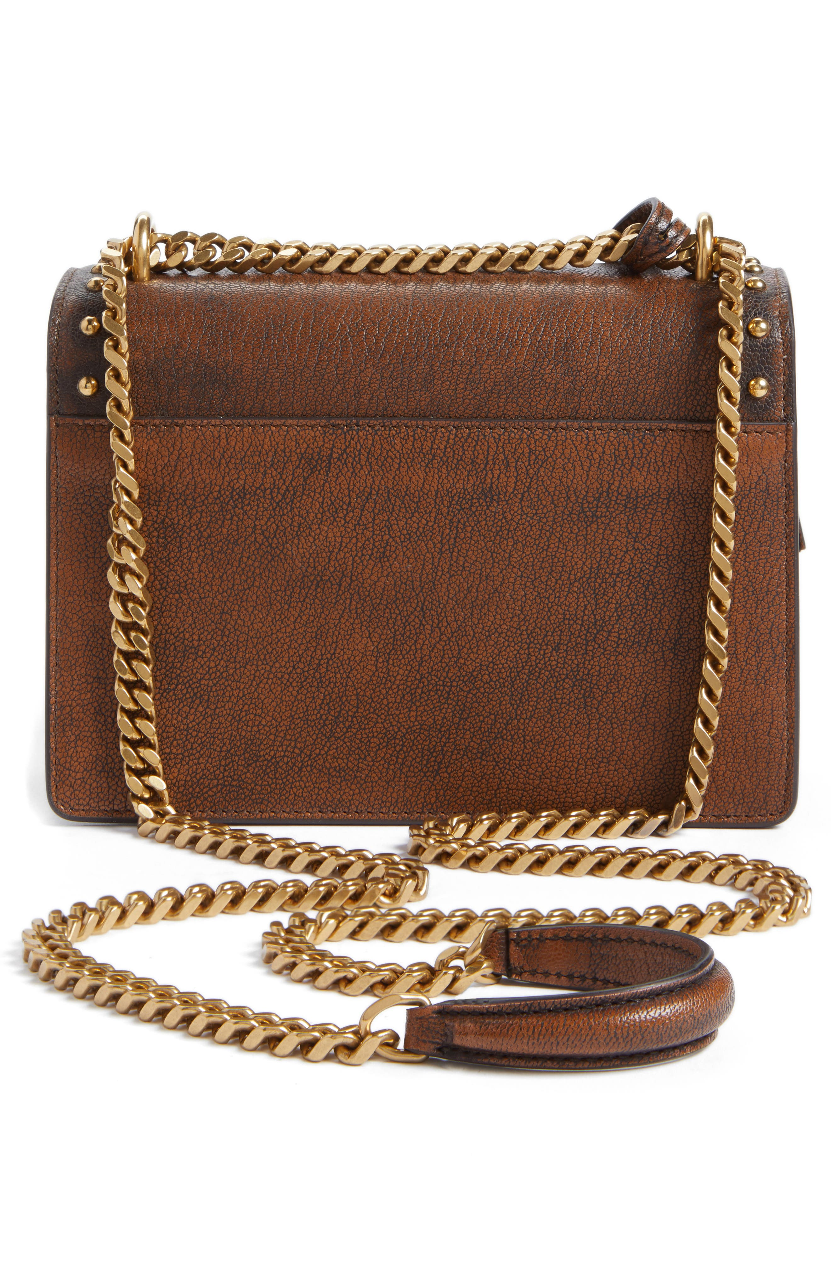 Small Sunset Studded Vintage Leather Shoulder Bag,                             Alternate thumbnail 3, color,                             979