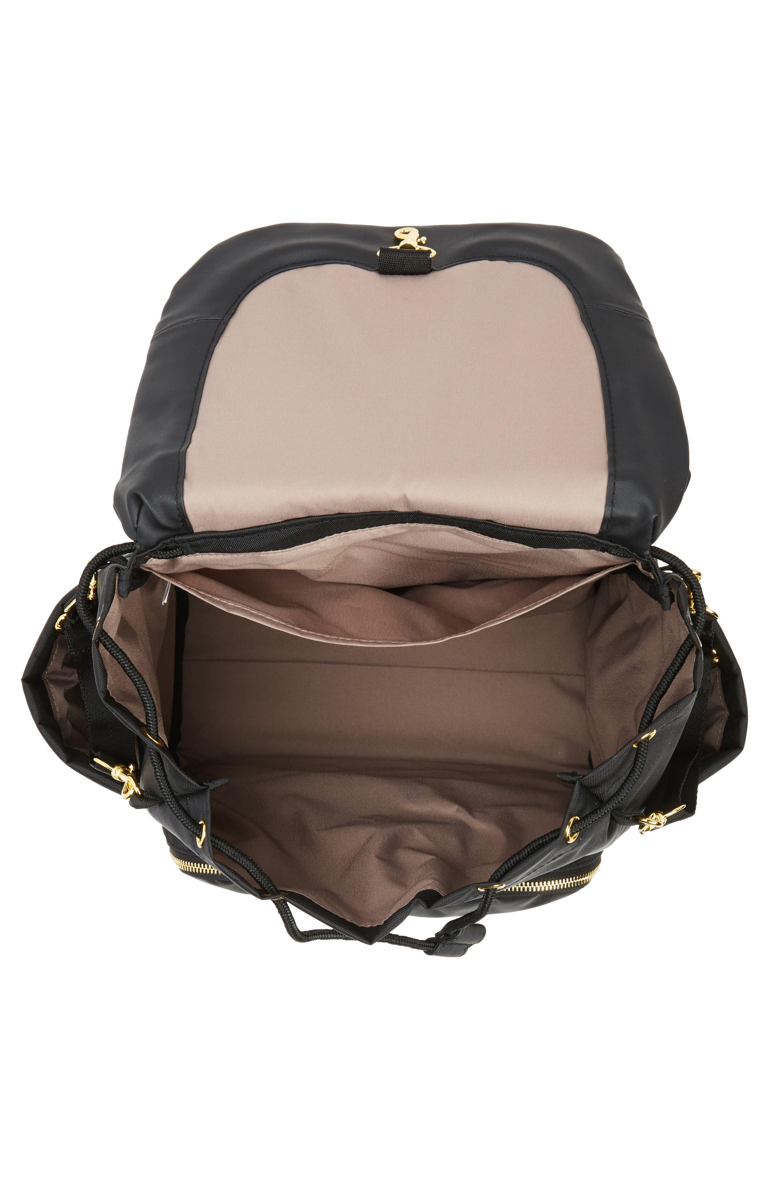 'Chelsea' Diaper Bag Backpack,                             Alternate thumbnail 4, color,                             BLACK